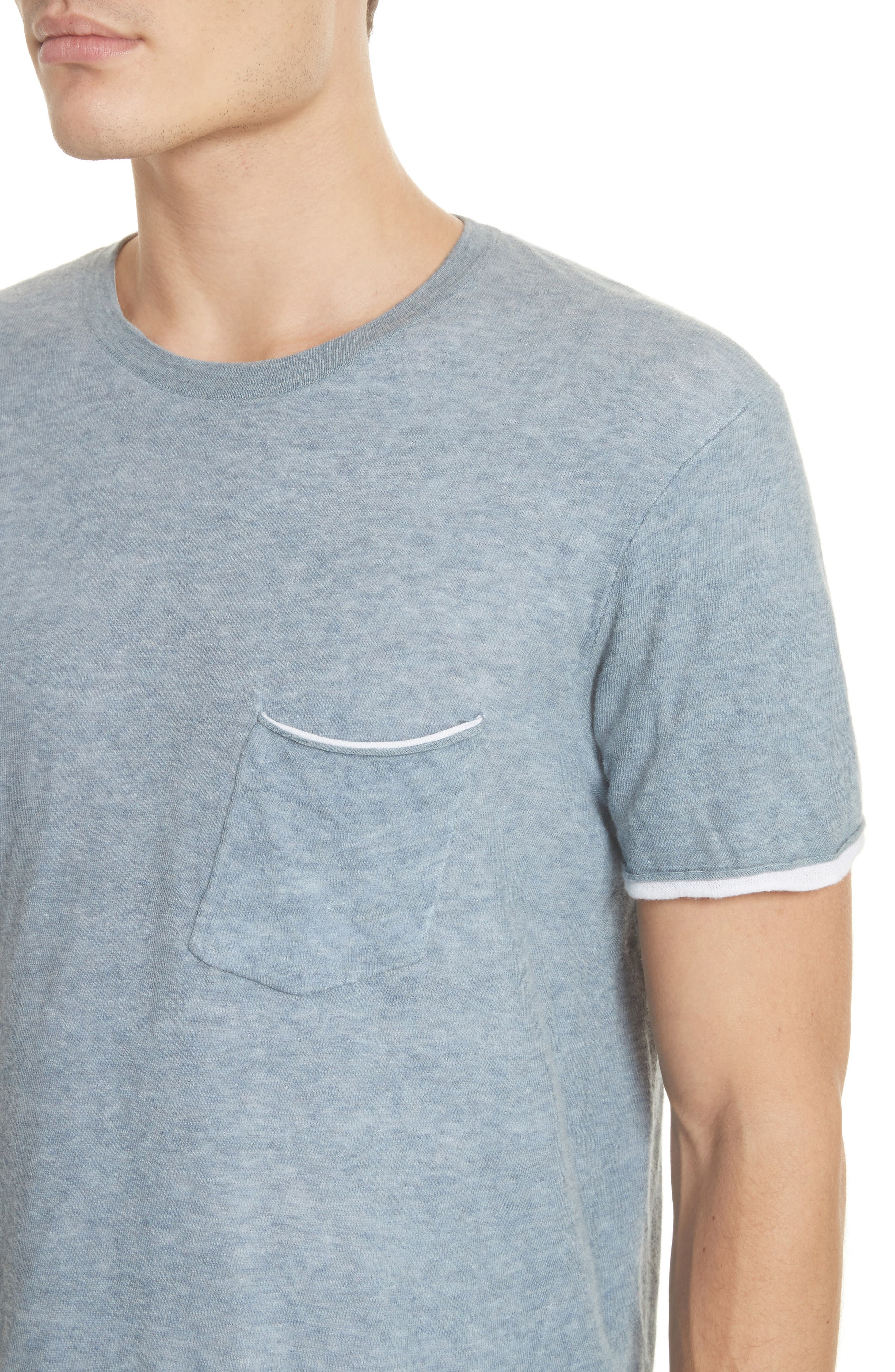 Tripp Pocket T-Shirt,                             Alternate thumbnail 4, color,                             Light Blue