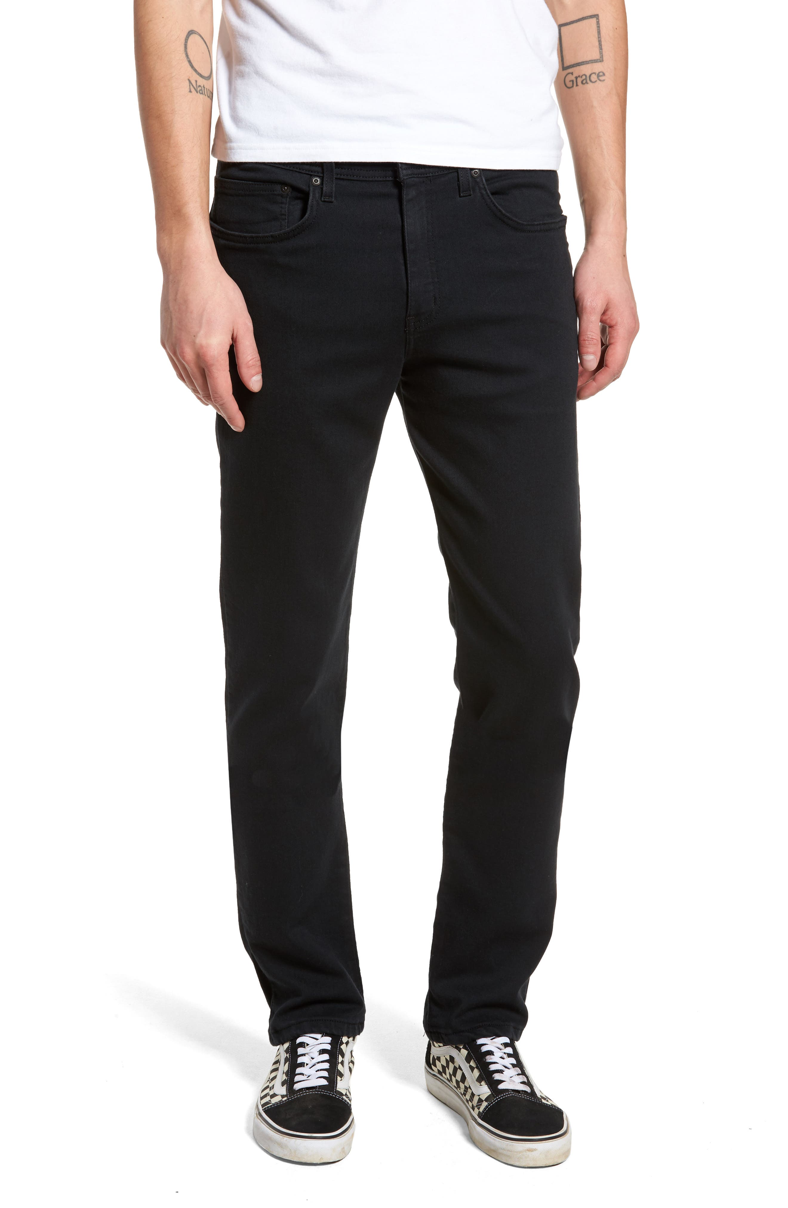 Weird Guy Slim Fit Jeans,                             Main thumbnail 1, color,                             Black