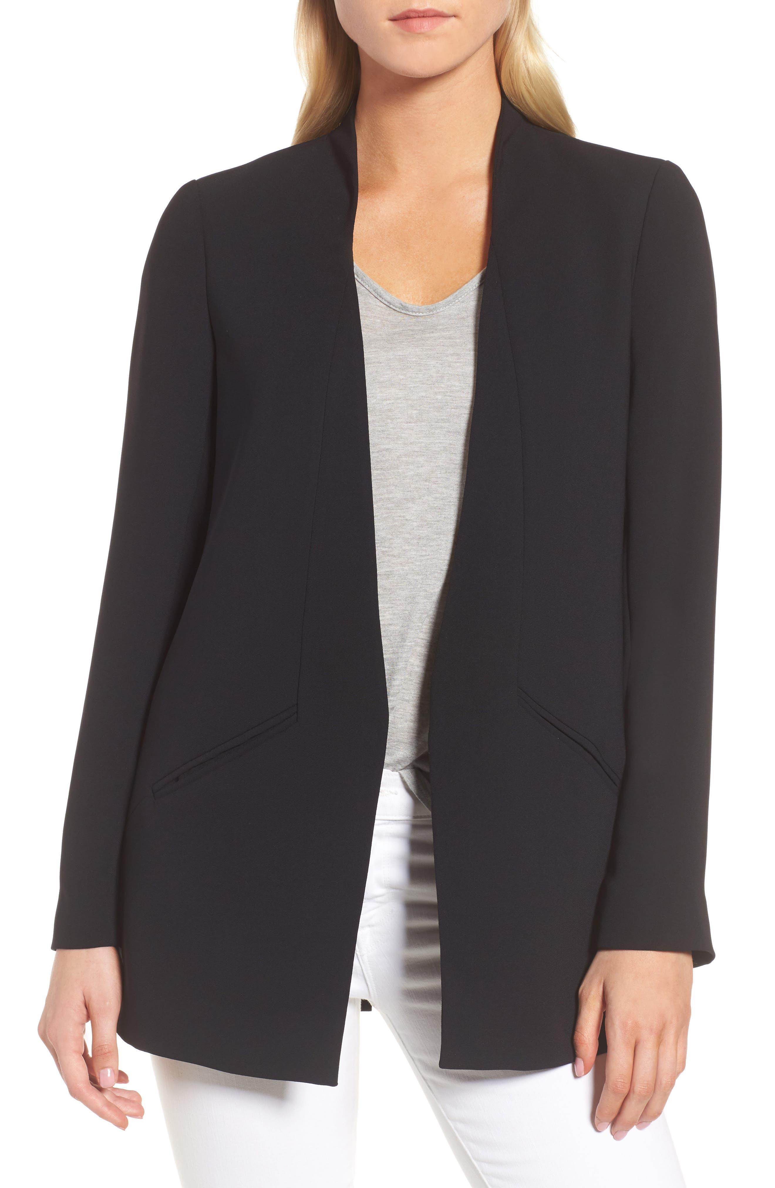 Split Back Blazer,                         Main,                         color, Black