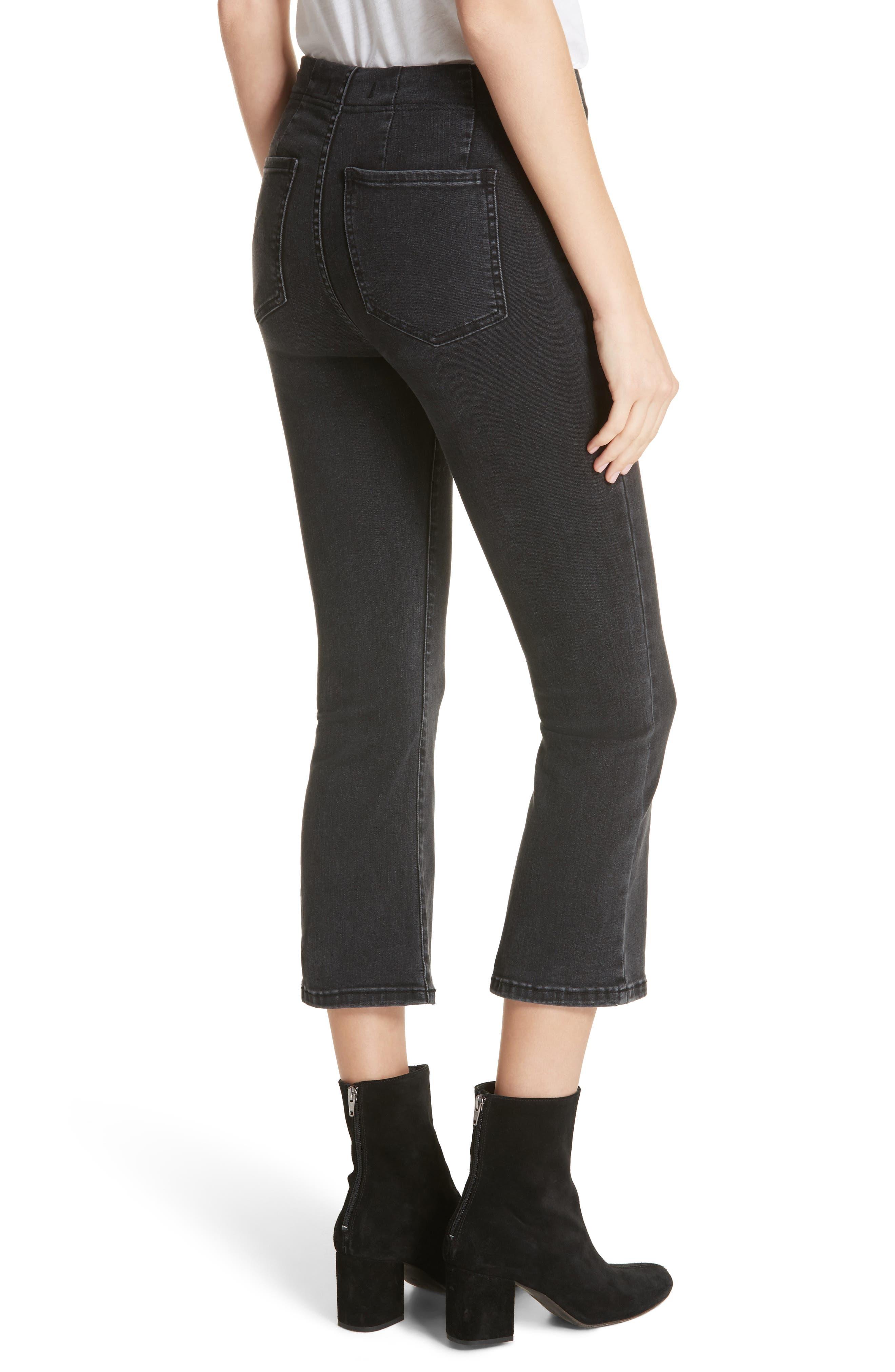Ultra High Waist Crop Bootcut Jeans,                             Alternate thumbnail 2, color,                             Black