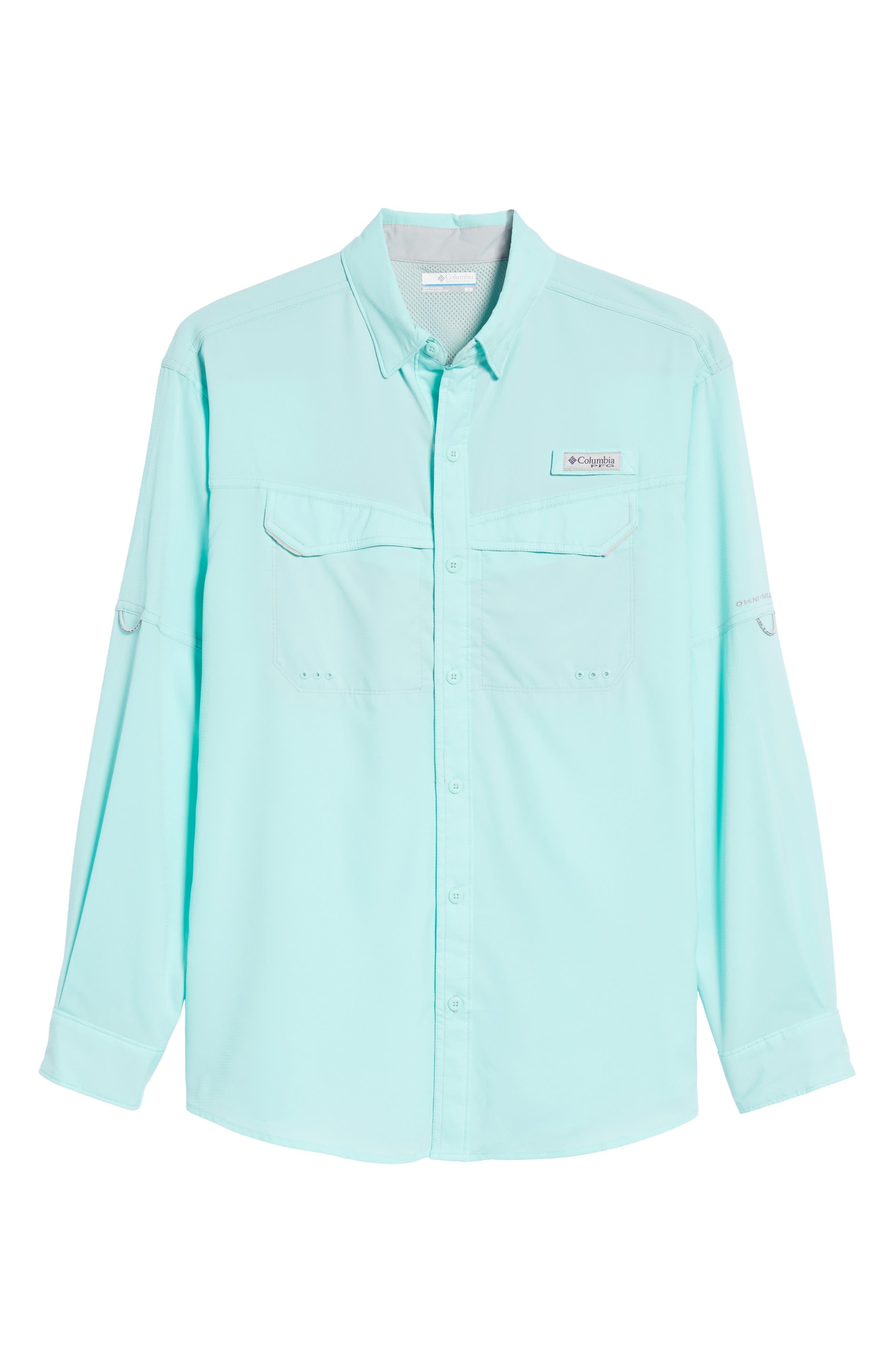 Low Drag Offshore Woven Shirt,                             Alternate thumbnail 6, color,                             Vivid Blue