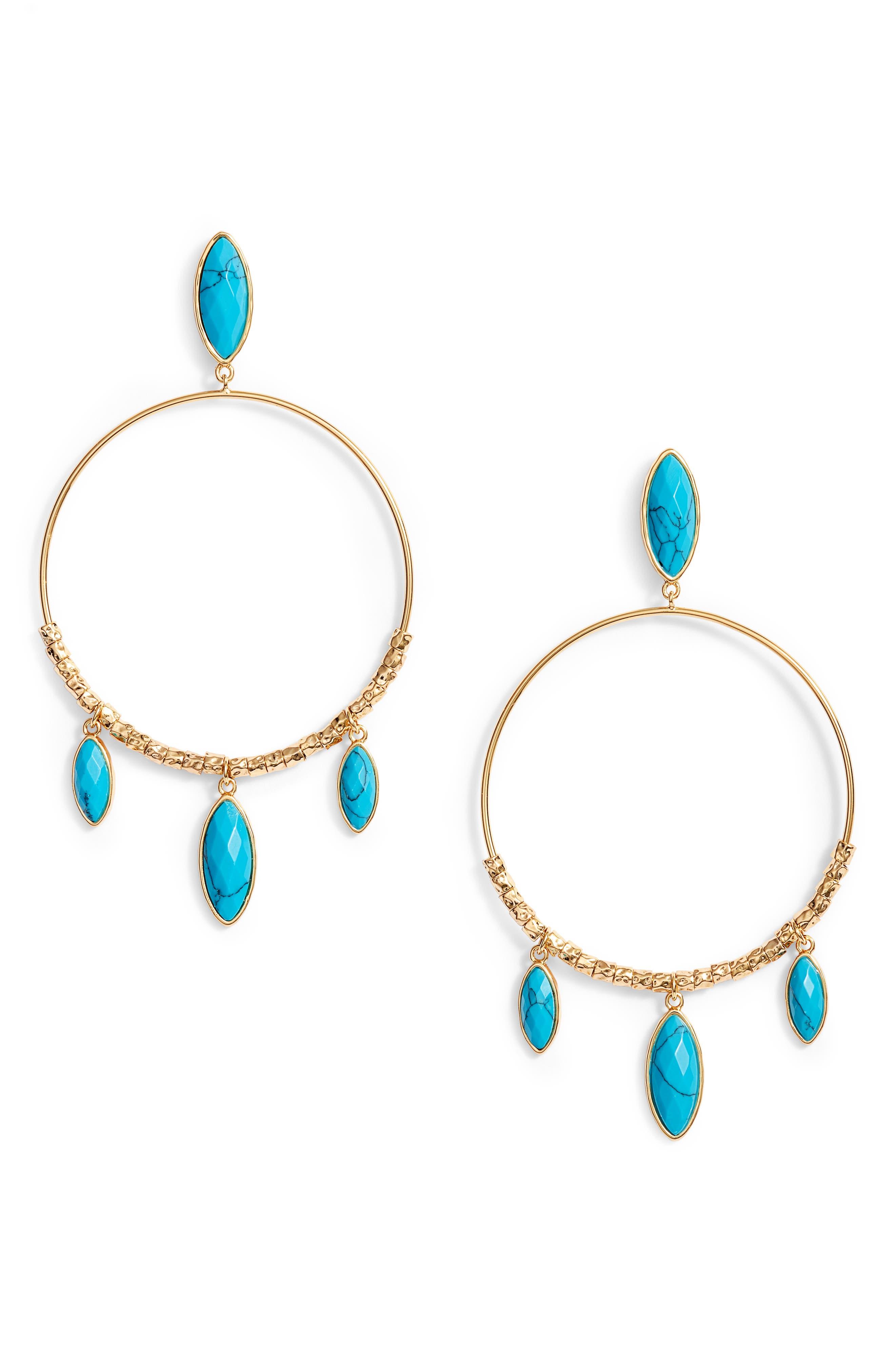 Main Image - gorjana Palisades Drop Hoop Earrings