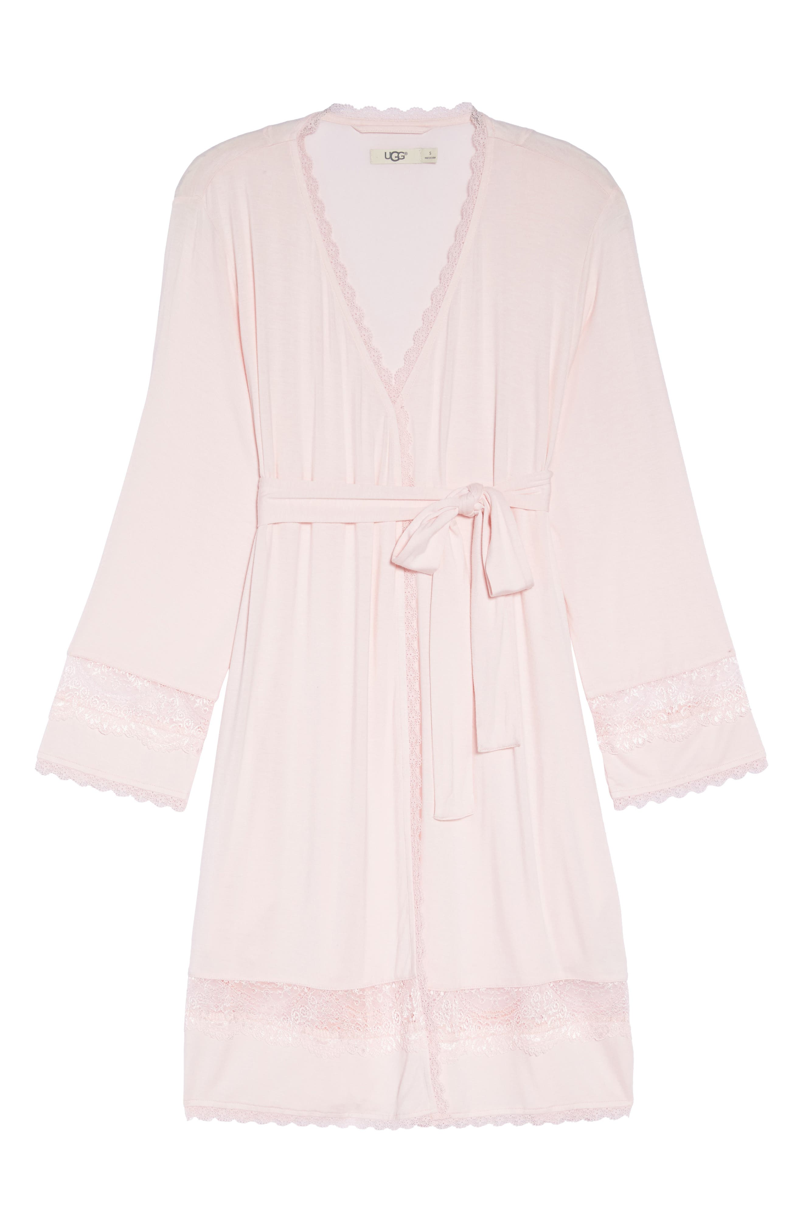 Cosima Embellished Robe,                             Alternate thumbnail 4, color,                             Seashell Pink
