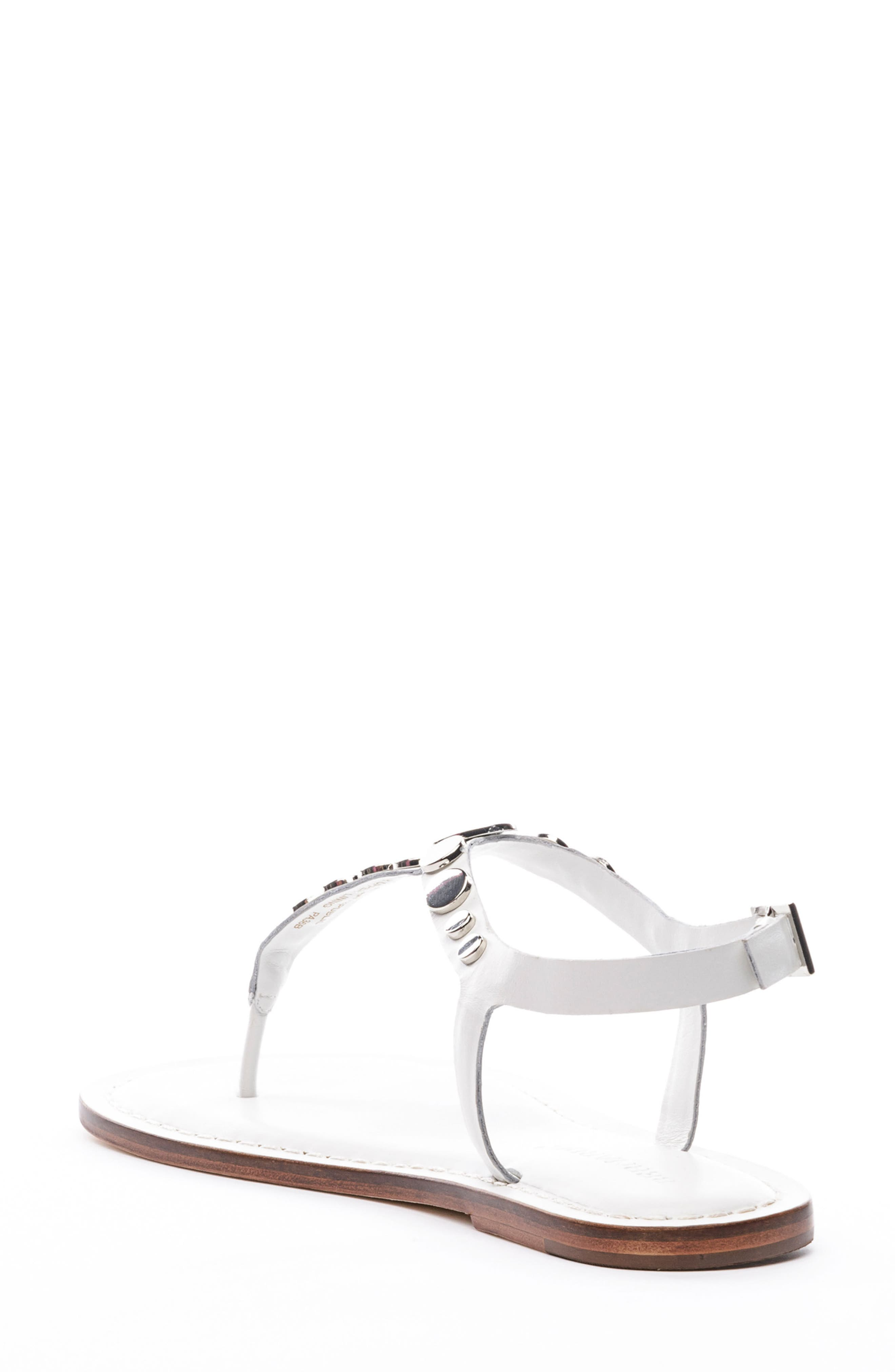 May Sandal,                             Alternate thumbnail 2, color,                             White Leather