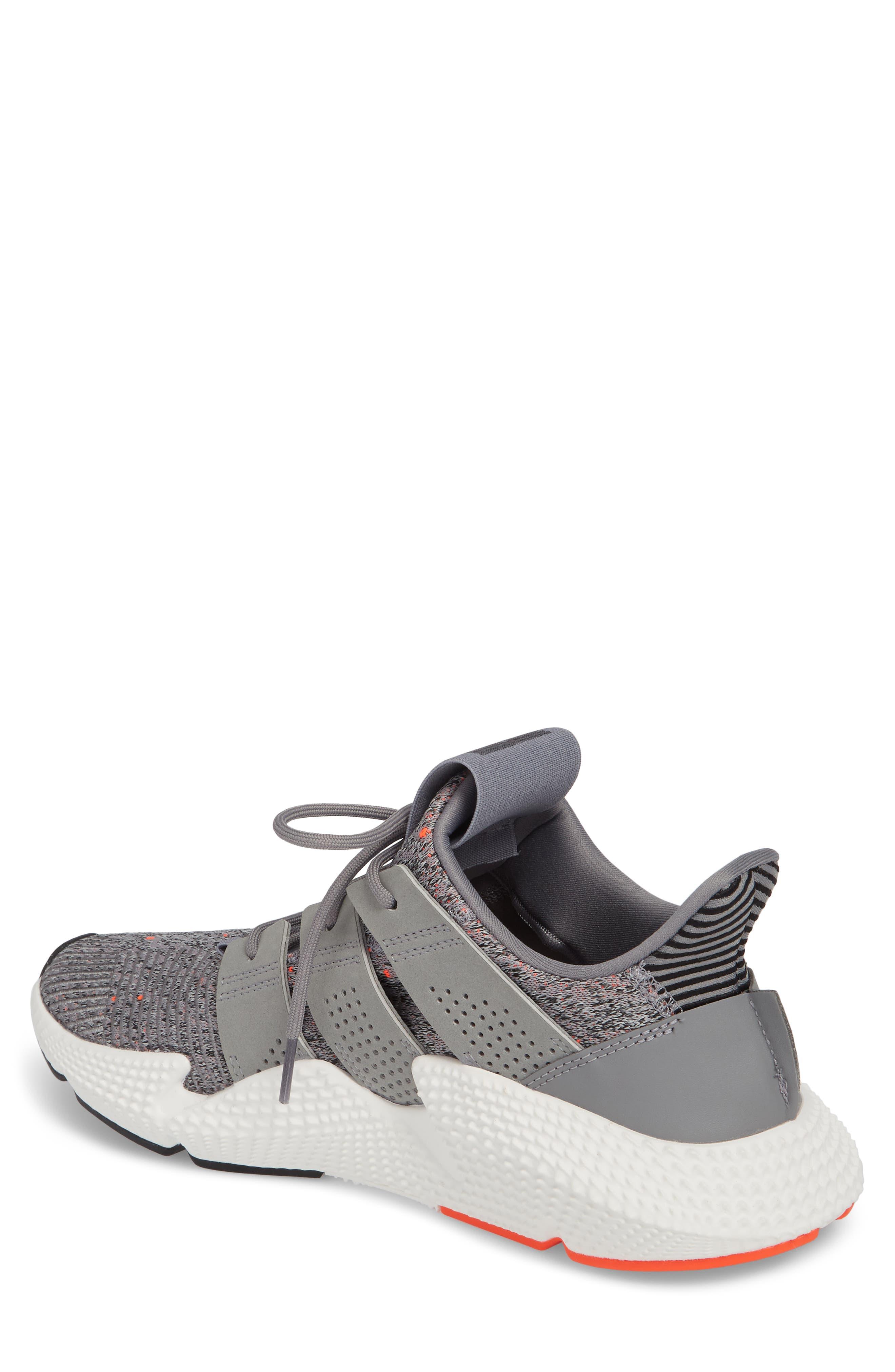 Prophere Sneaker,                             Alternate thumbnail 2, color,                             Grey/ White/ Solar Red