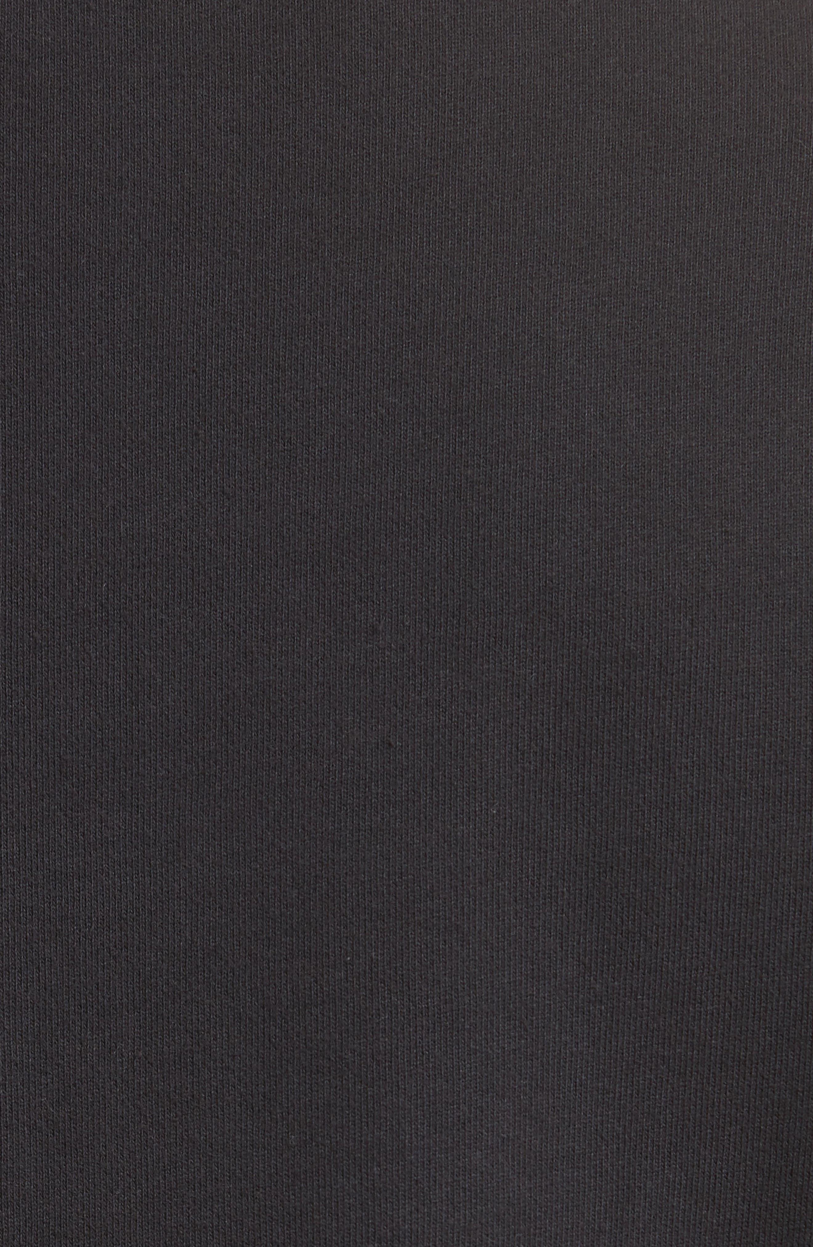 Pins Distressed Sweatshirt,                             Alternate thumbnail 5, color,                             Black