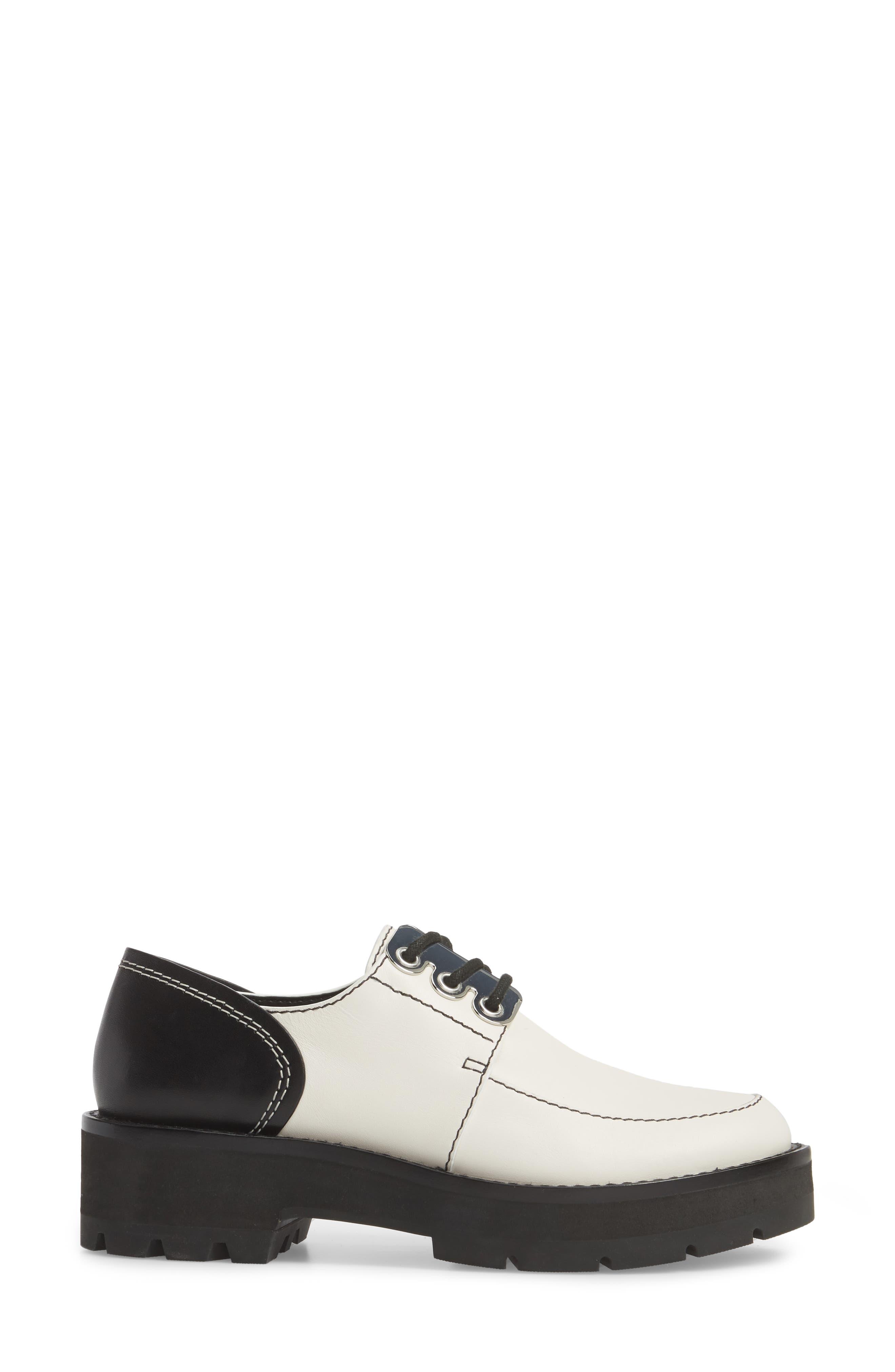 Cat Loafer,                             Alternate thumbnail 3, color,                             White-Black