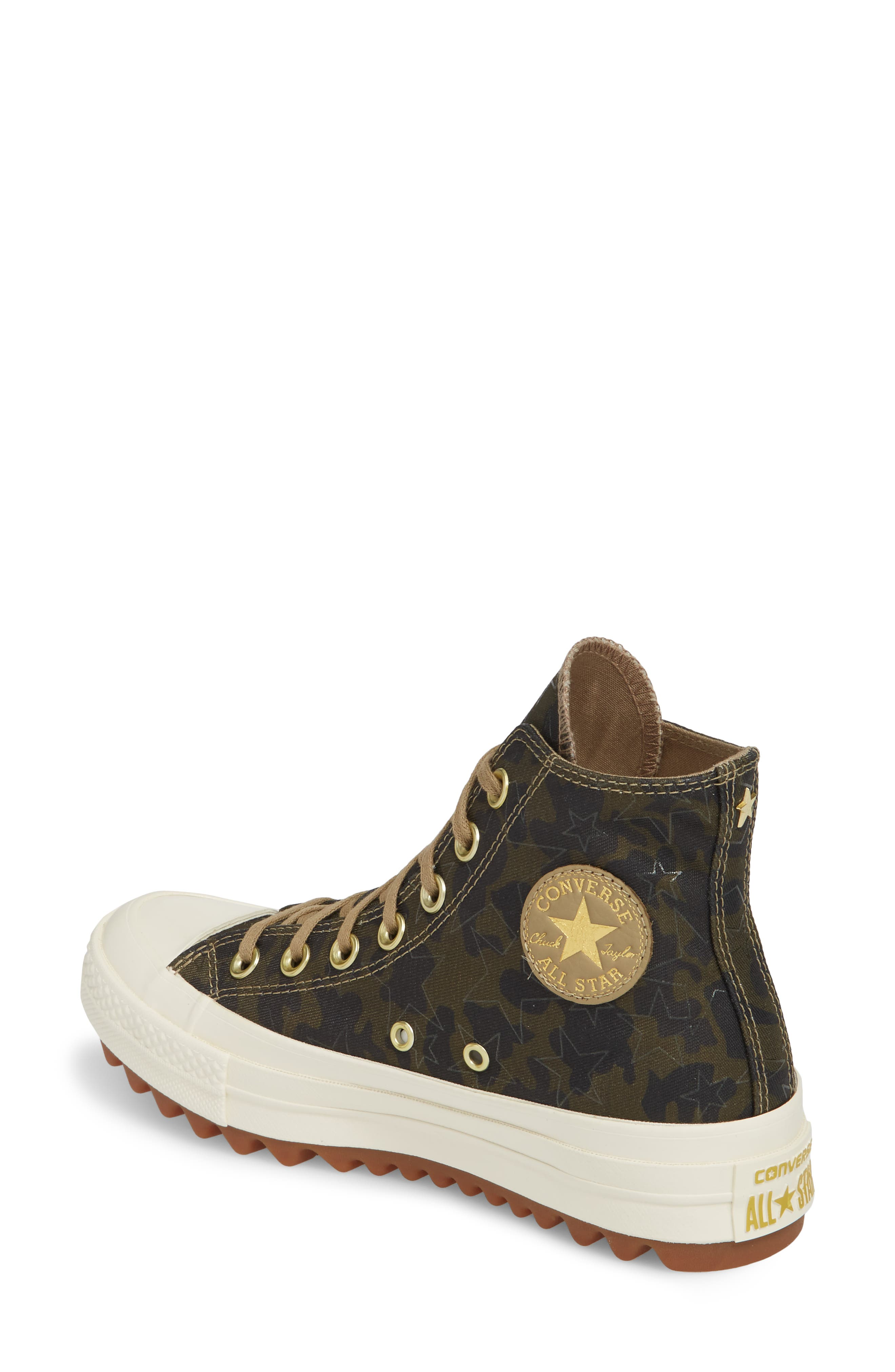 Chuck Taylor<sup>®</sup> All Star<sup>®</sup> Lift Ripple High Top Sneaker,                             Alternate thumbnail 2, color,                             Khaki