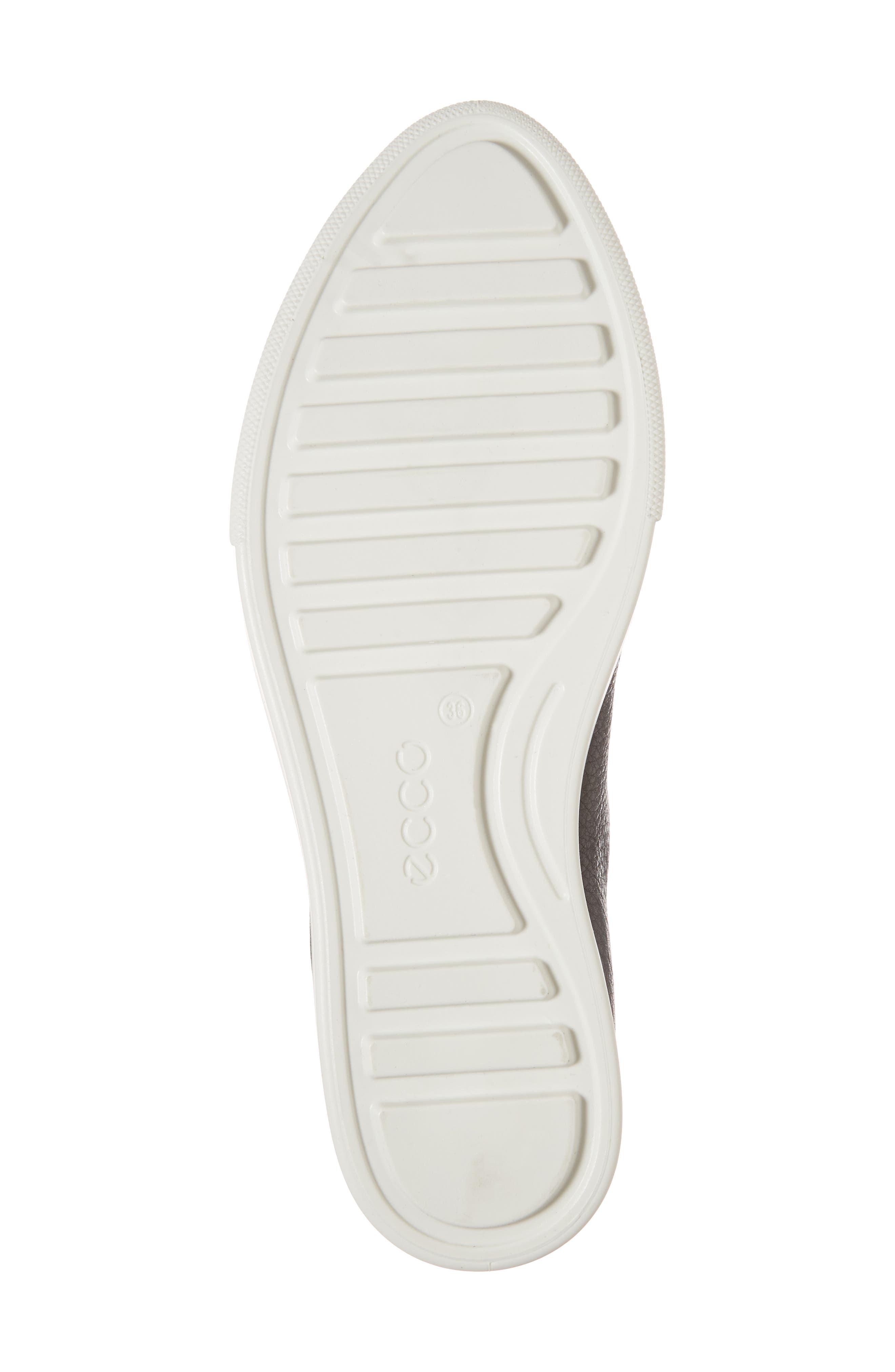 Gillian Slip-On Sneaker,                             Alternate thumbnail 6, color,                             Black Leather