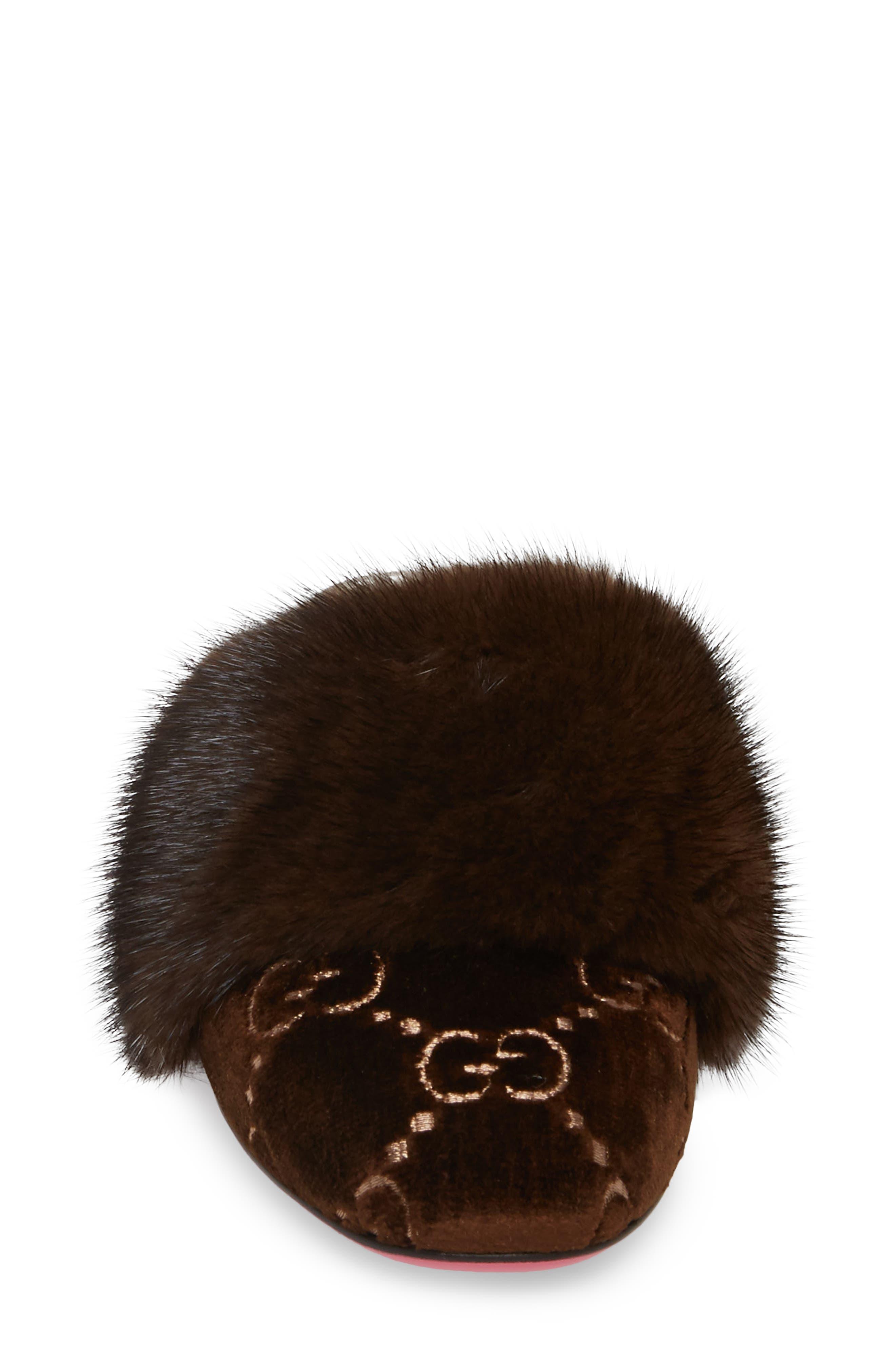 Alternate Image 4  - Gucci Candy Genuine Mink Fur Mule (Women)