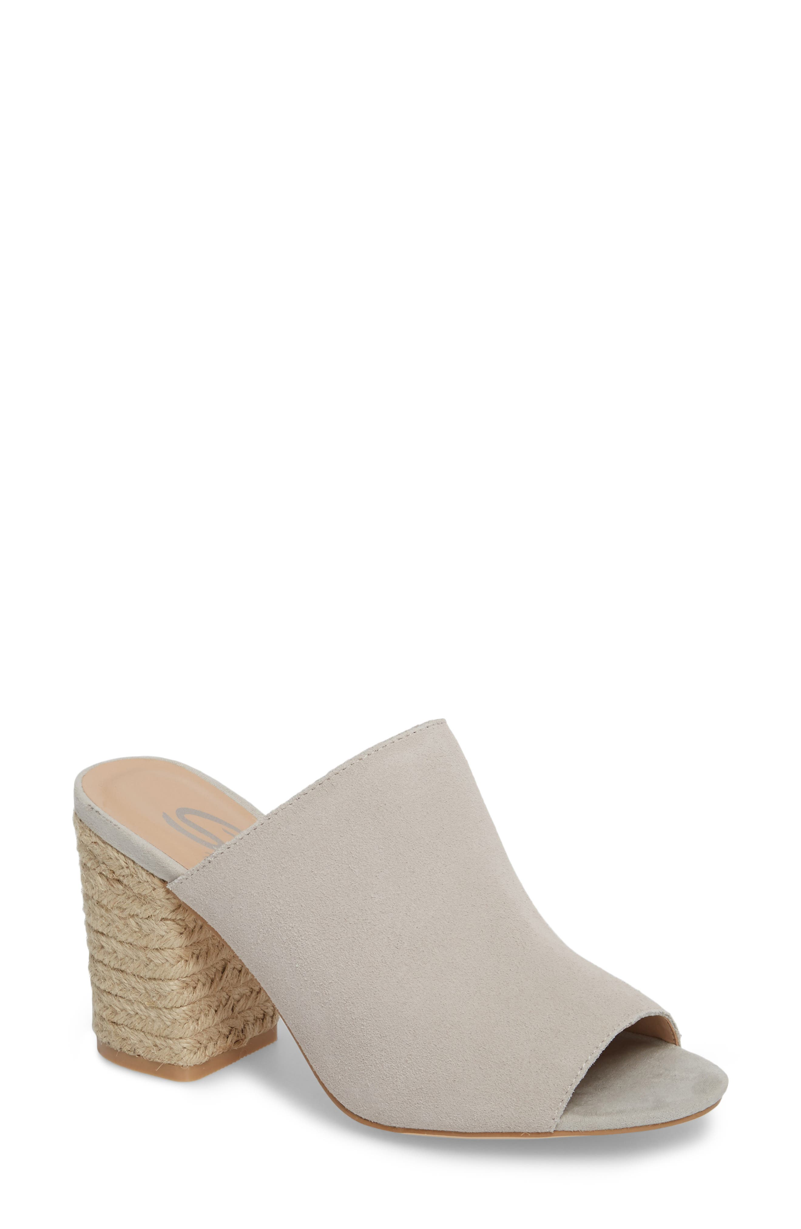Helena Sandal,                         Main,                         color, Ice Suede/ Leather