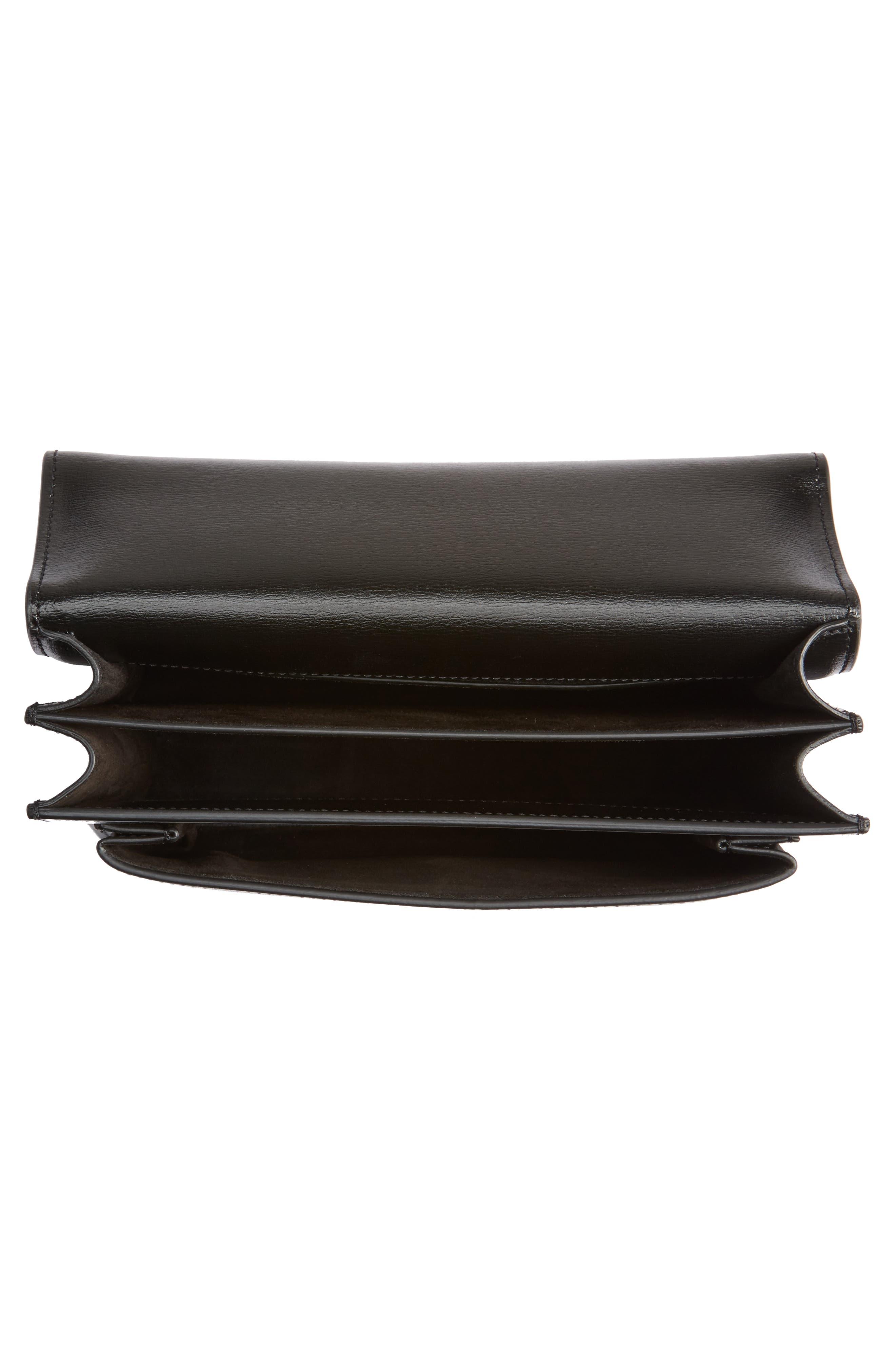 Medium Sunset Calfskin Shoulder Bag,                             Alternate thumbnail 3, color,                             Noir