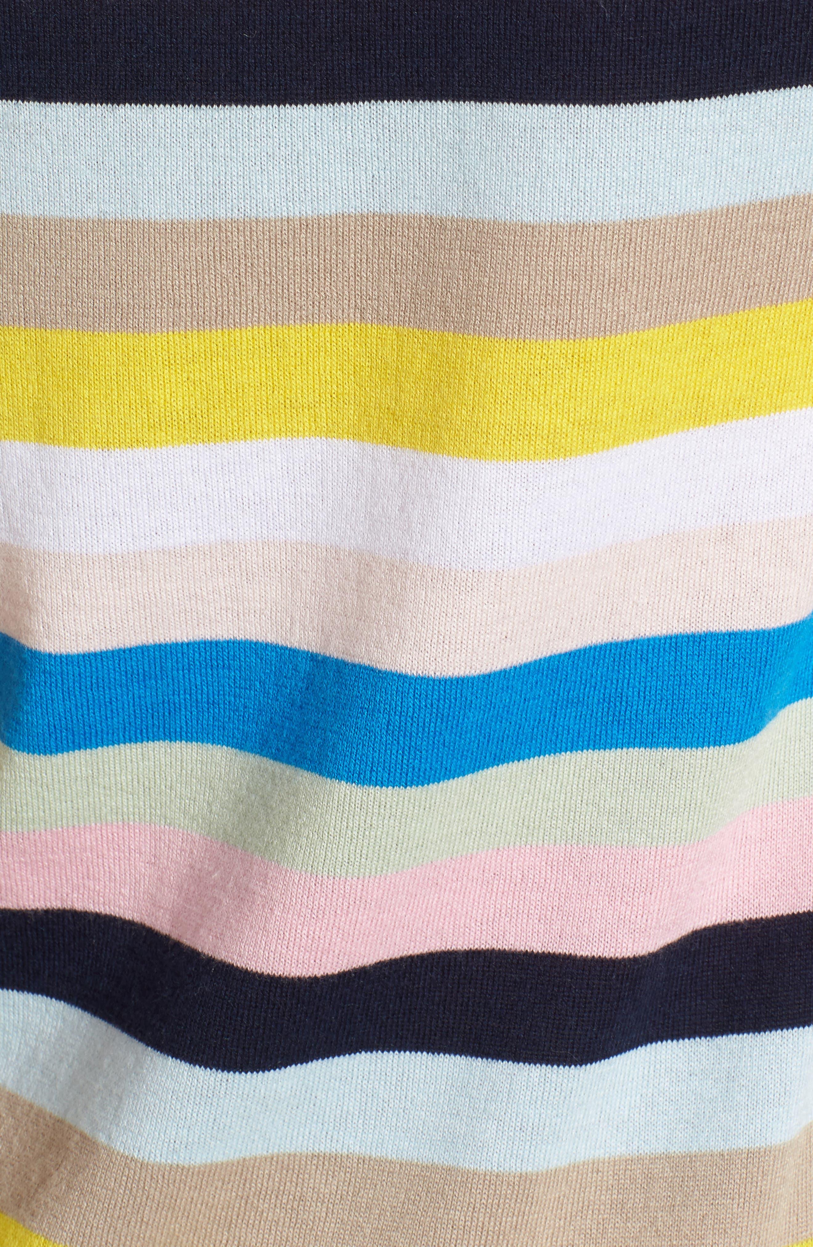 Crewneck Sweater,                             Alternate thumbnail 6, color,                             Blue Multi Stripe