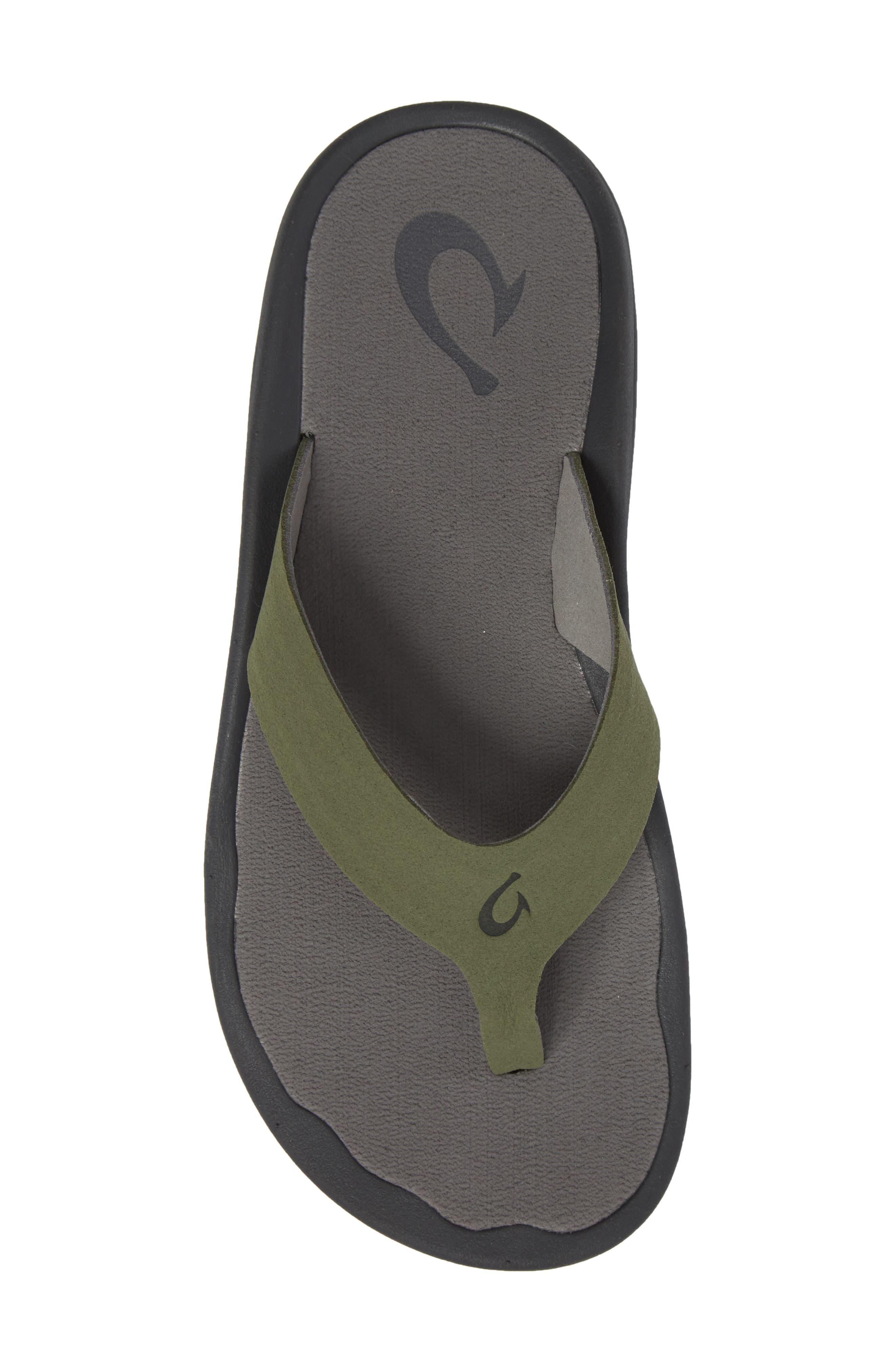 Ohana Ho'okahi Flip Flop,                             Alternate thumbnail 5, color,                             Sea Grass/ Charcoal