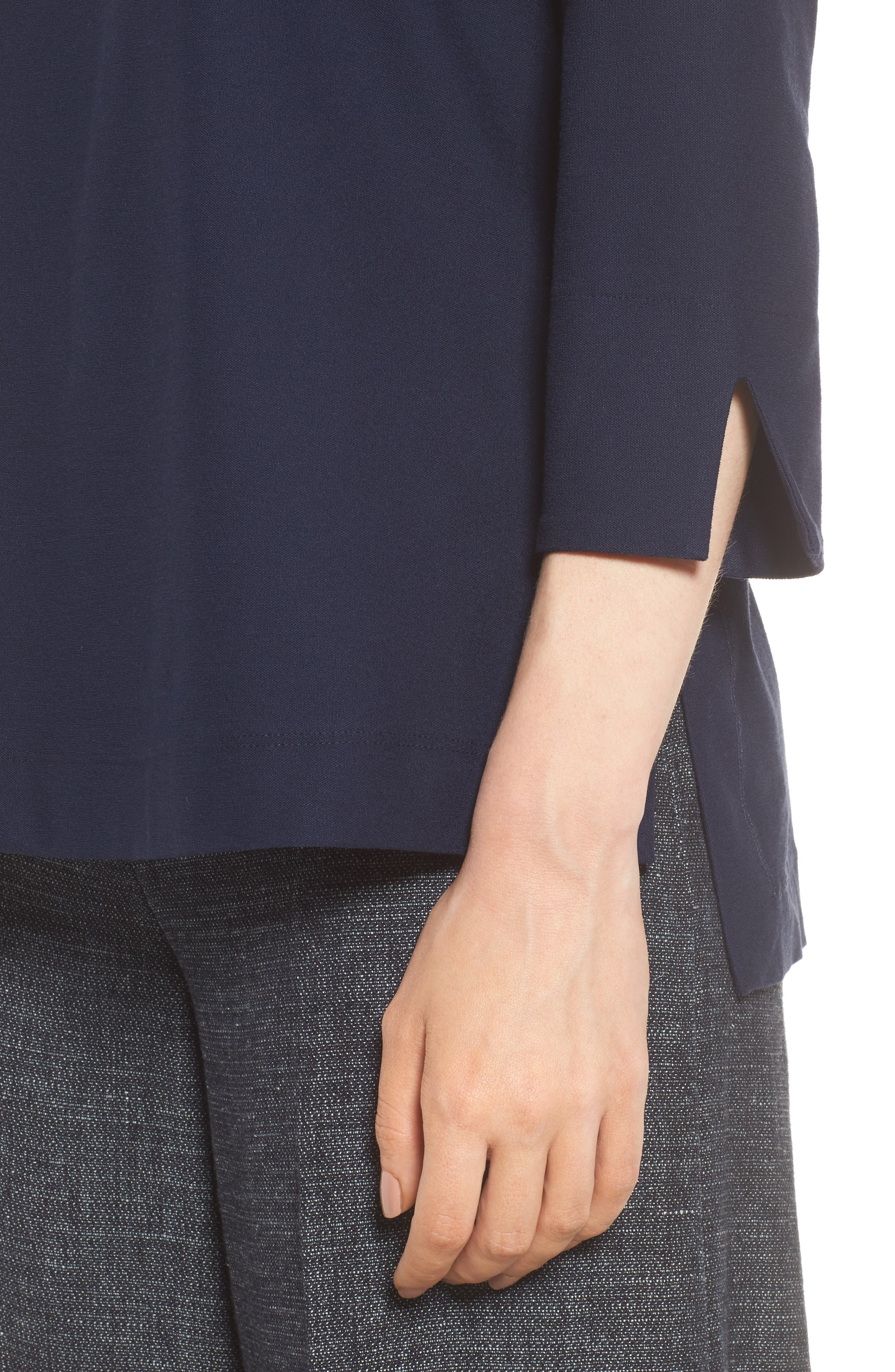 Boxy Jersey Top,                             Alternate thumbnail 4, color,                             Midnight