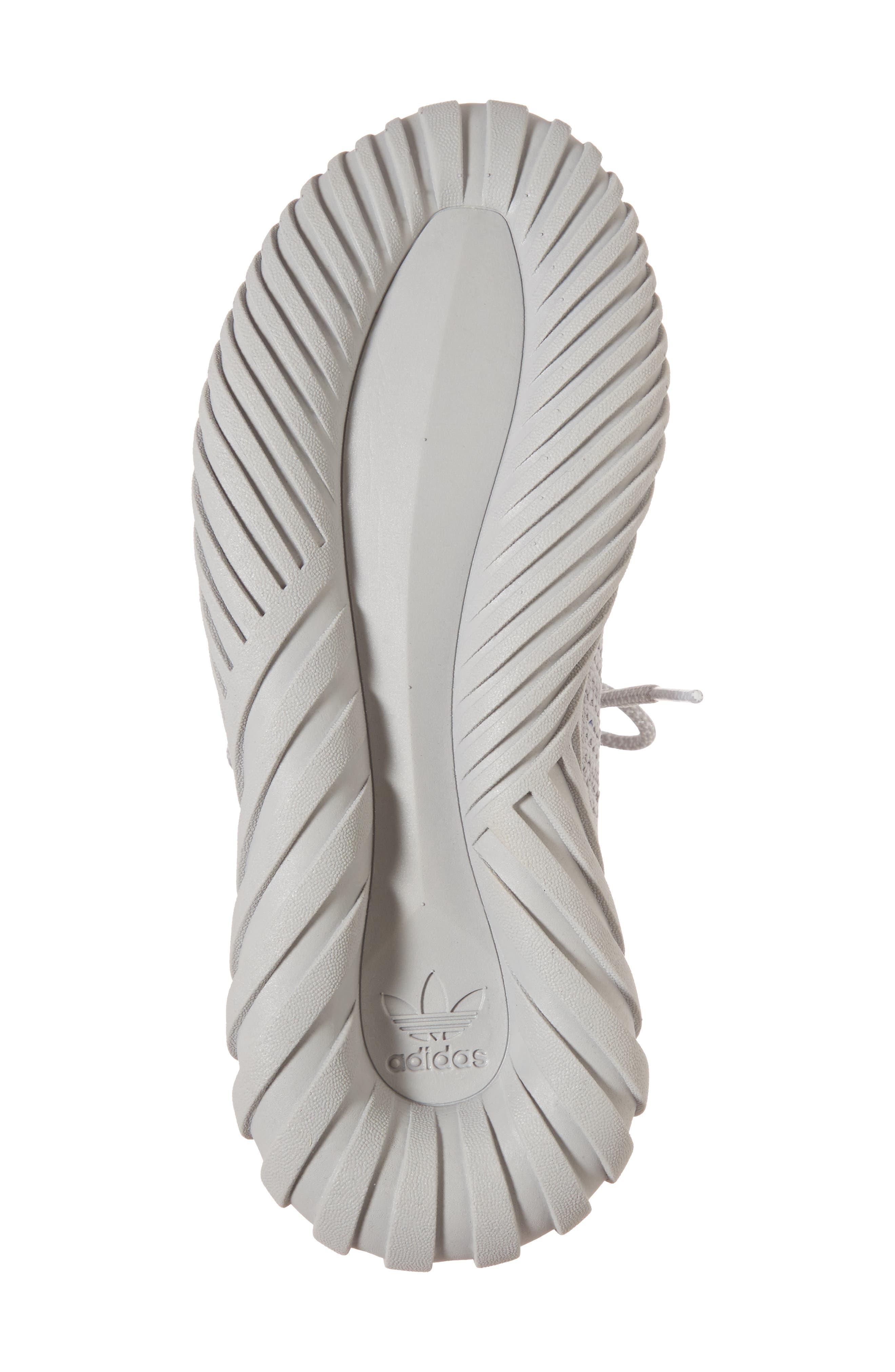 Tubular Doom Sock Primeknit Sneaker,                             Alternate thumbnail 6, color,                             Grey/ White/ Blue