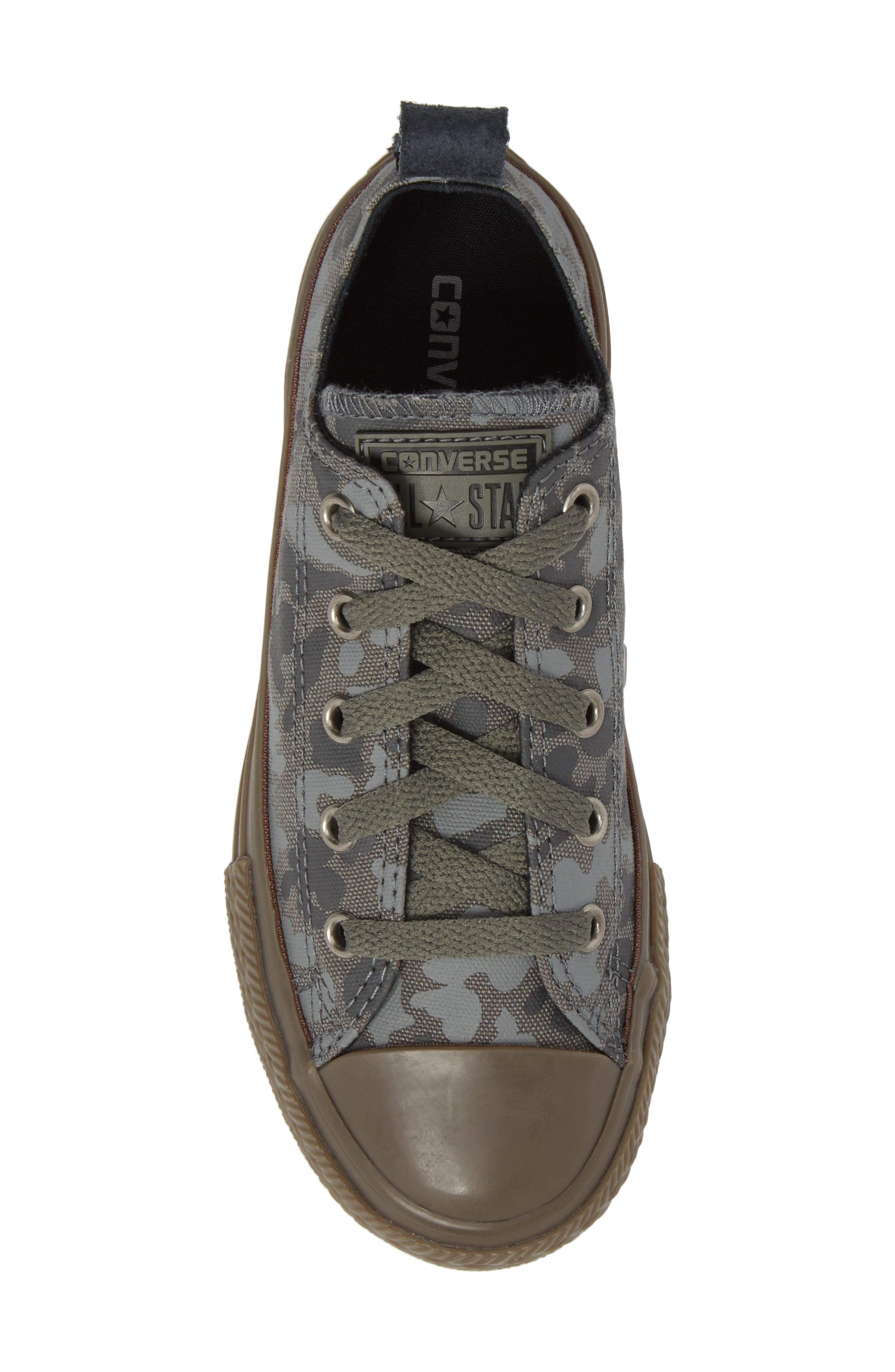 Chuck Taylor<sup>®</sup> All Star<sup>®</sup> Camo Ox Low Top Sneaker,                             Alternate thumbnail 5, color,                             Mason