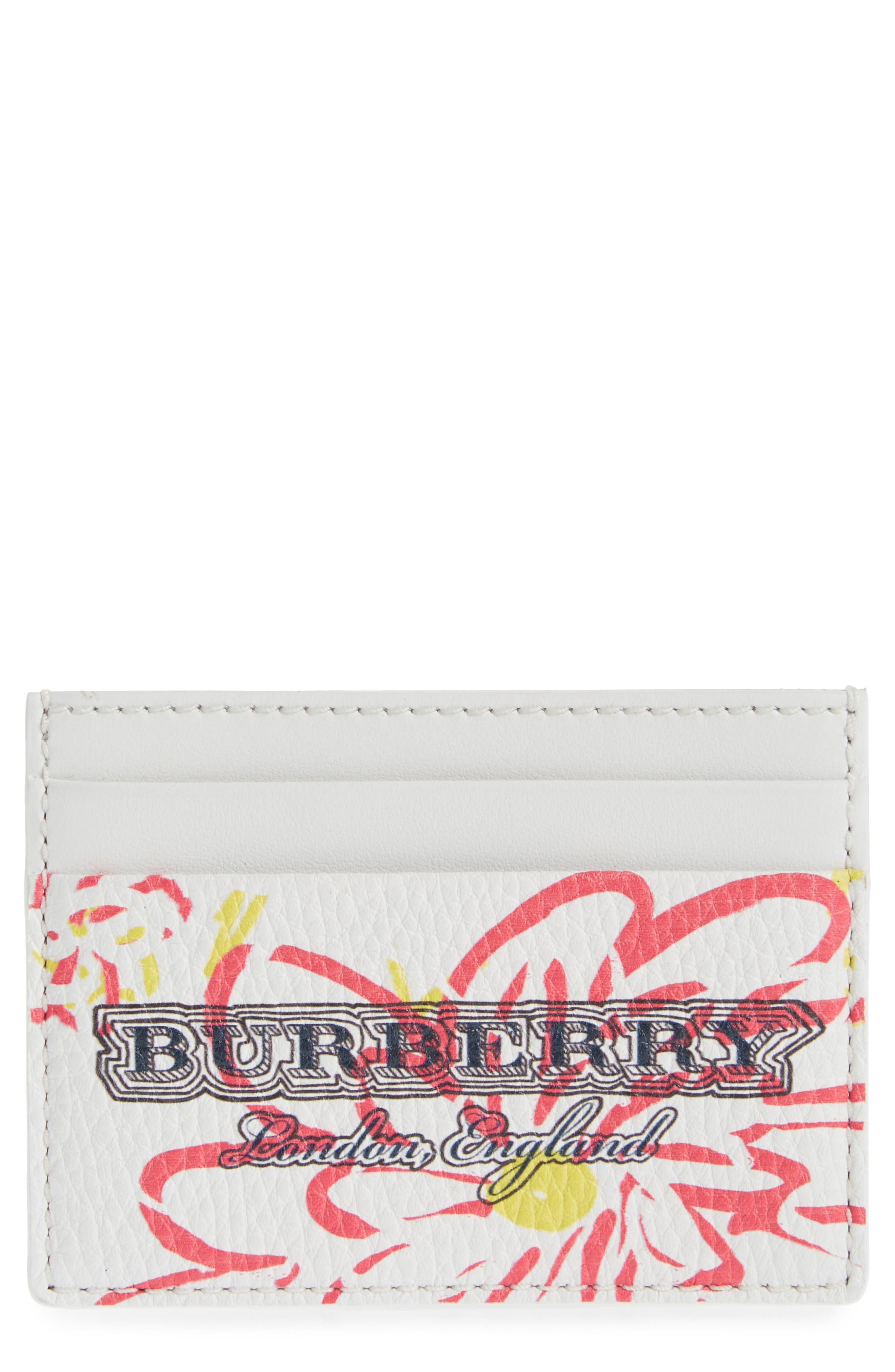 Burberry Sandon Doodle Leather Card Case