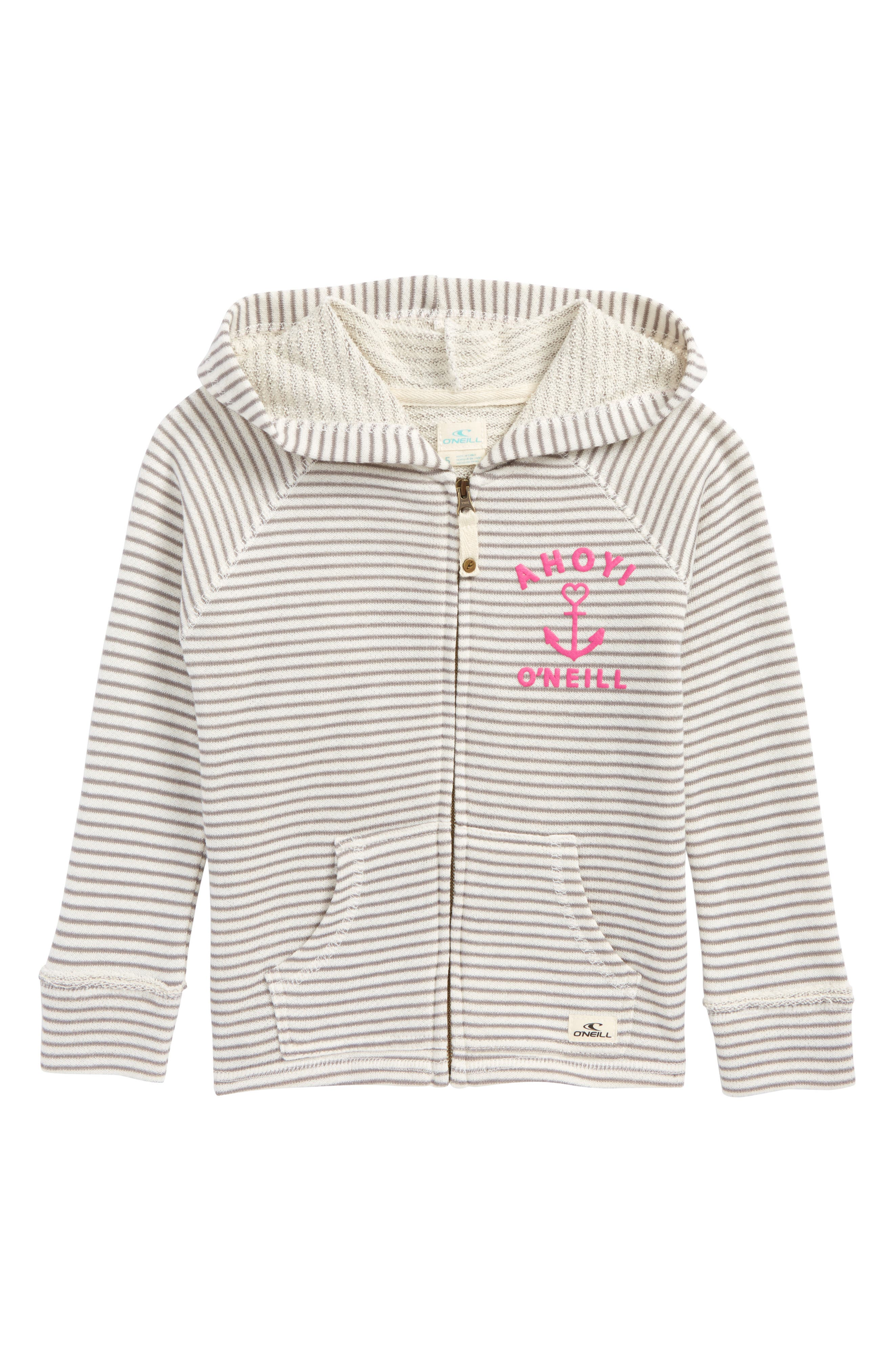 Shore French Terry Hoodie,                             Main thumbnail 1, color,                             Grey - Gry