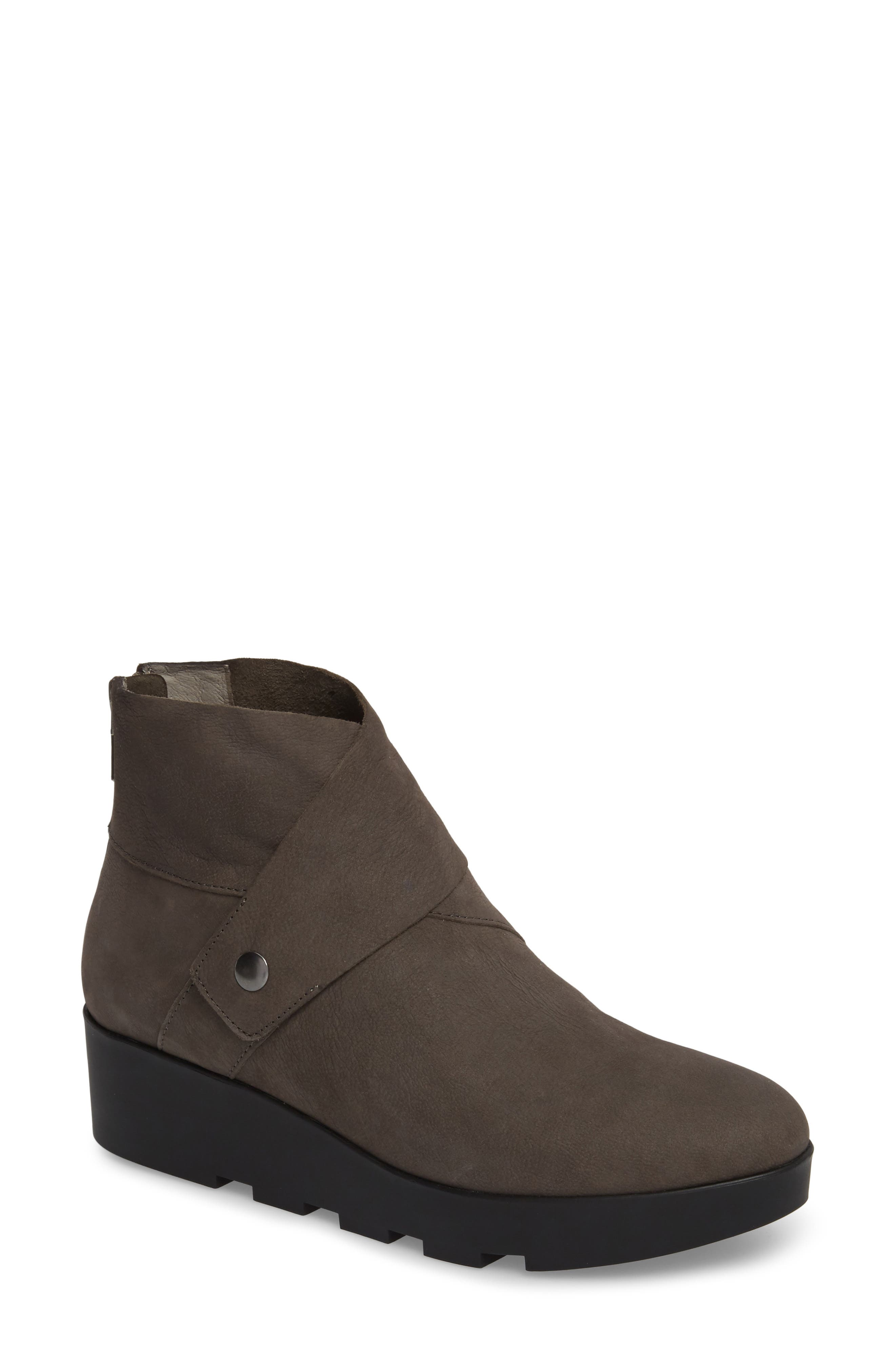 Tread Wedge Bootie,                             Main thumbnail 1, color,                             Graphite Nubuck