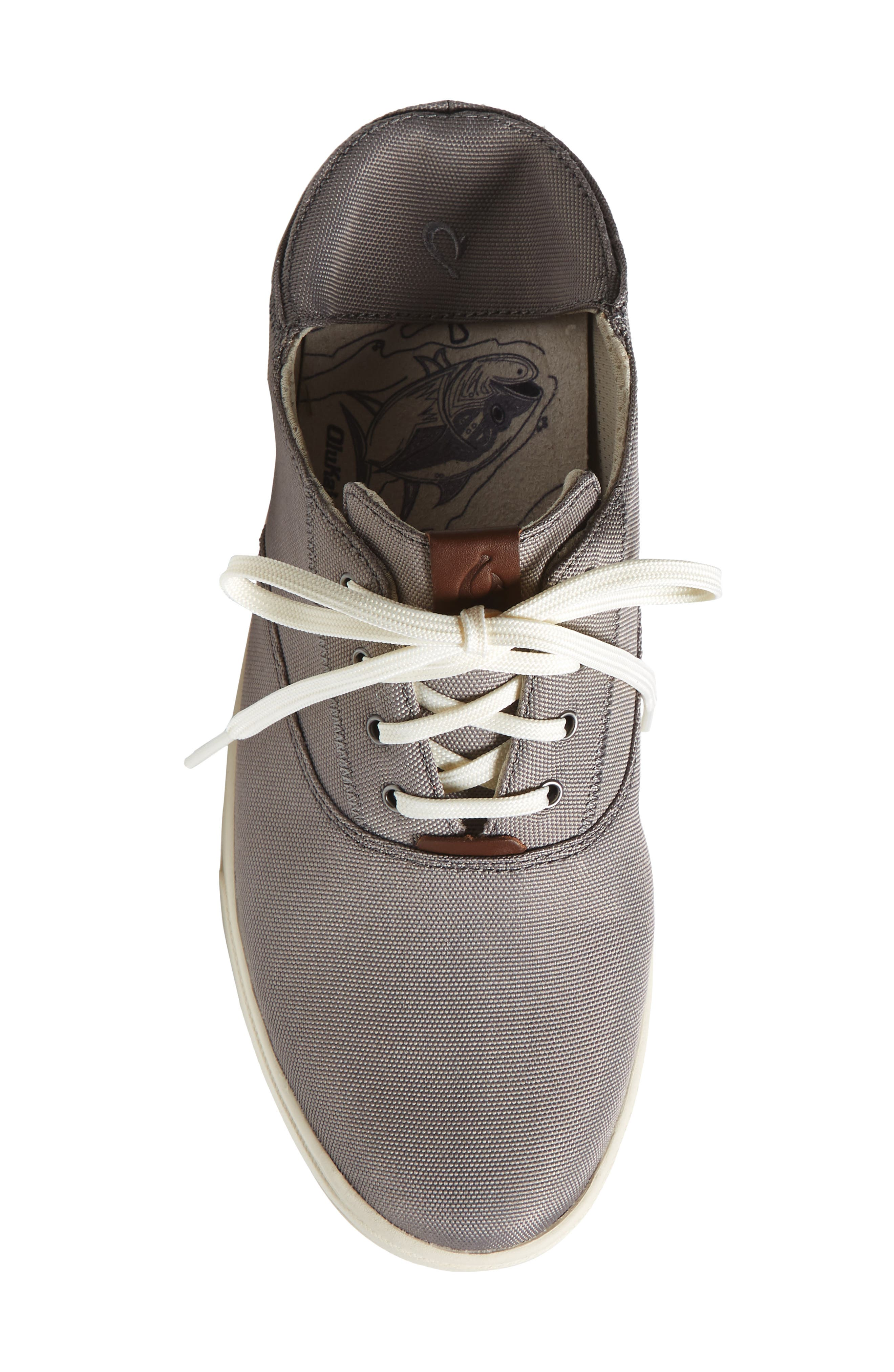Kahu Collapsible Lace-Up Sneaker,                             Alternate thumbnail 6, color,                             Fog/ Off White