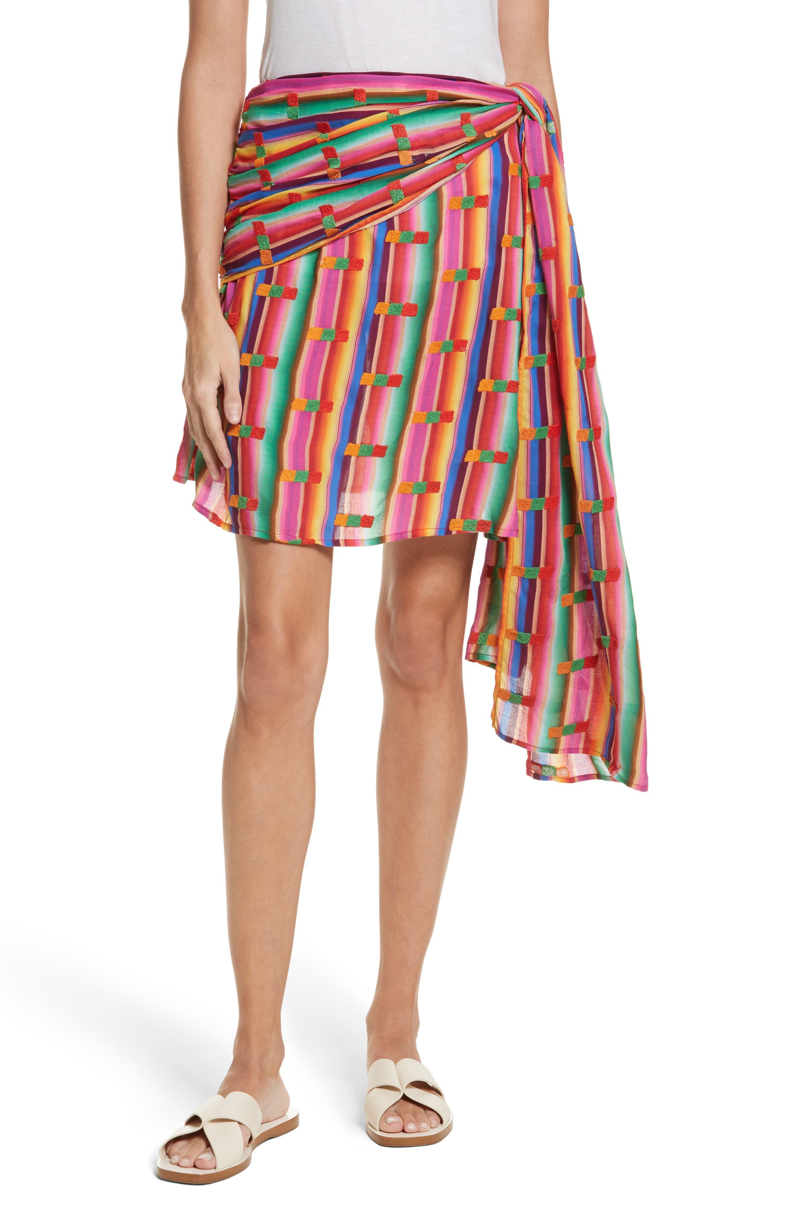 Roselie Wrap Style Skirt,                             Main thumbnail 1, color,                             Rainbow
