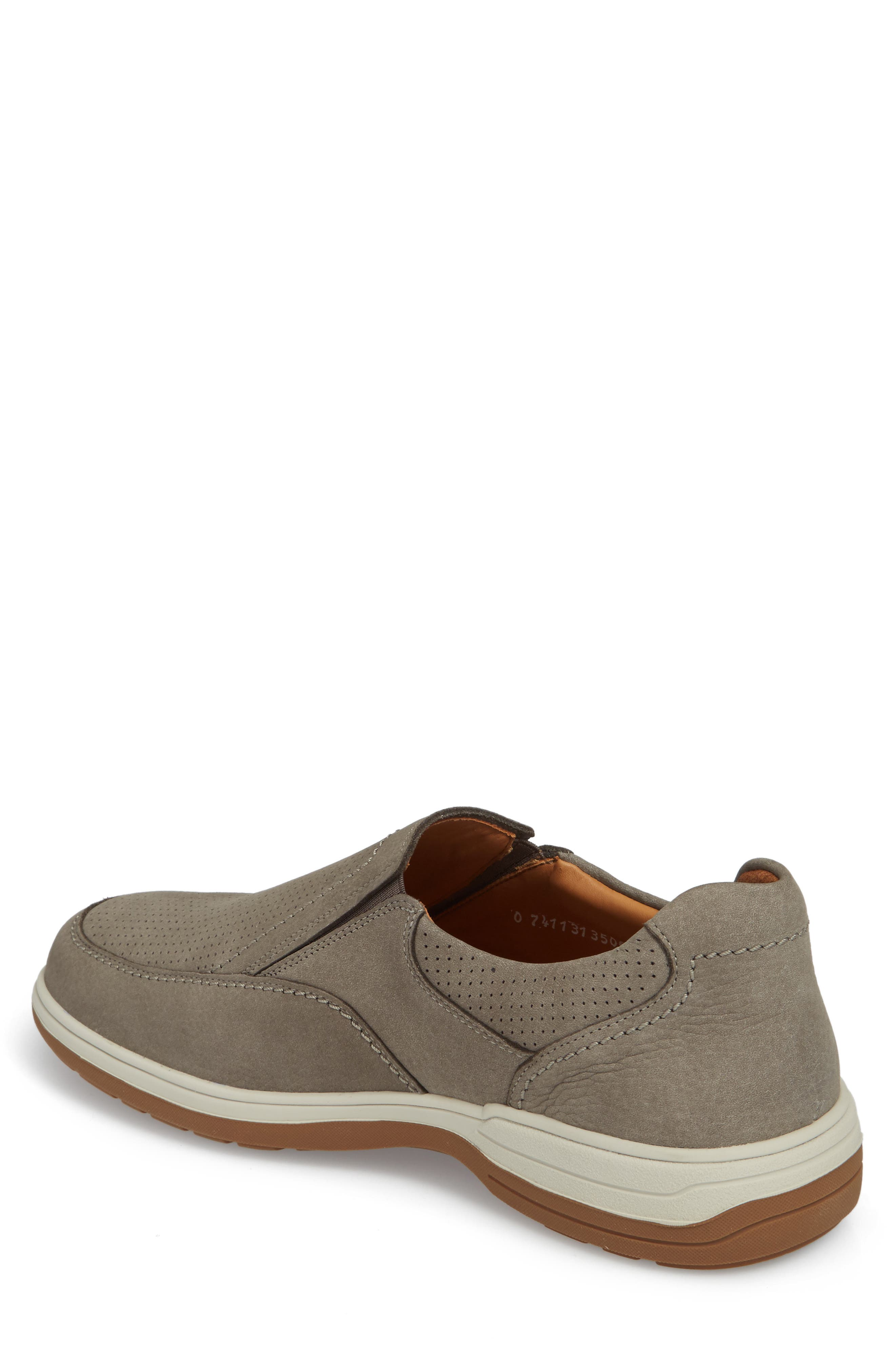 Davy Perforated Slip-On Sneaker,                             Alternate thumbnail 2, color,                             Grey