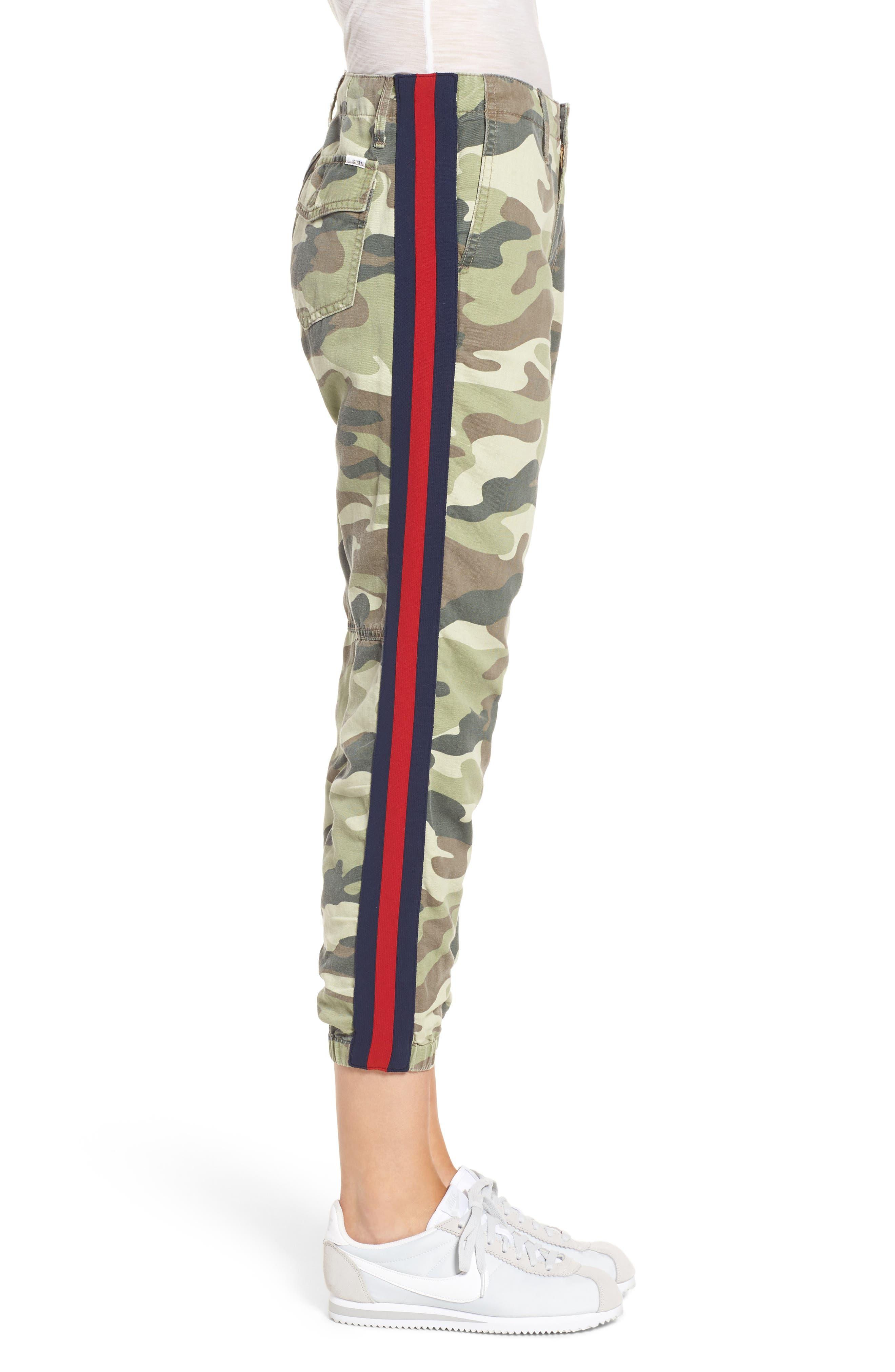 The Misfit Crop Pants,                             Alternate thumbnail 3, color,                             Camouflage