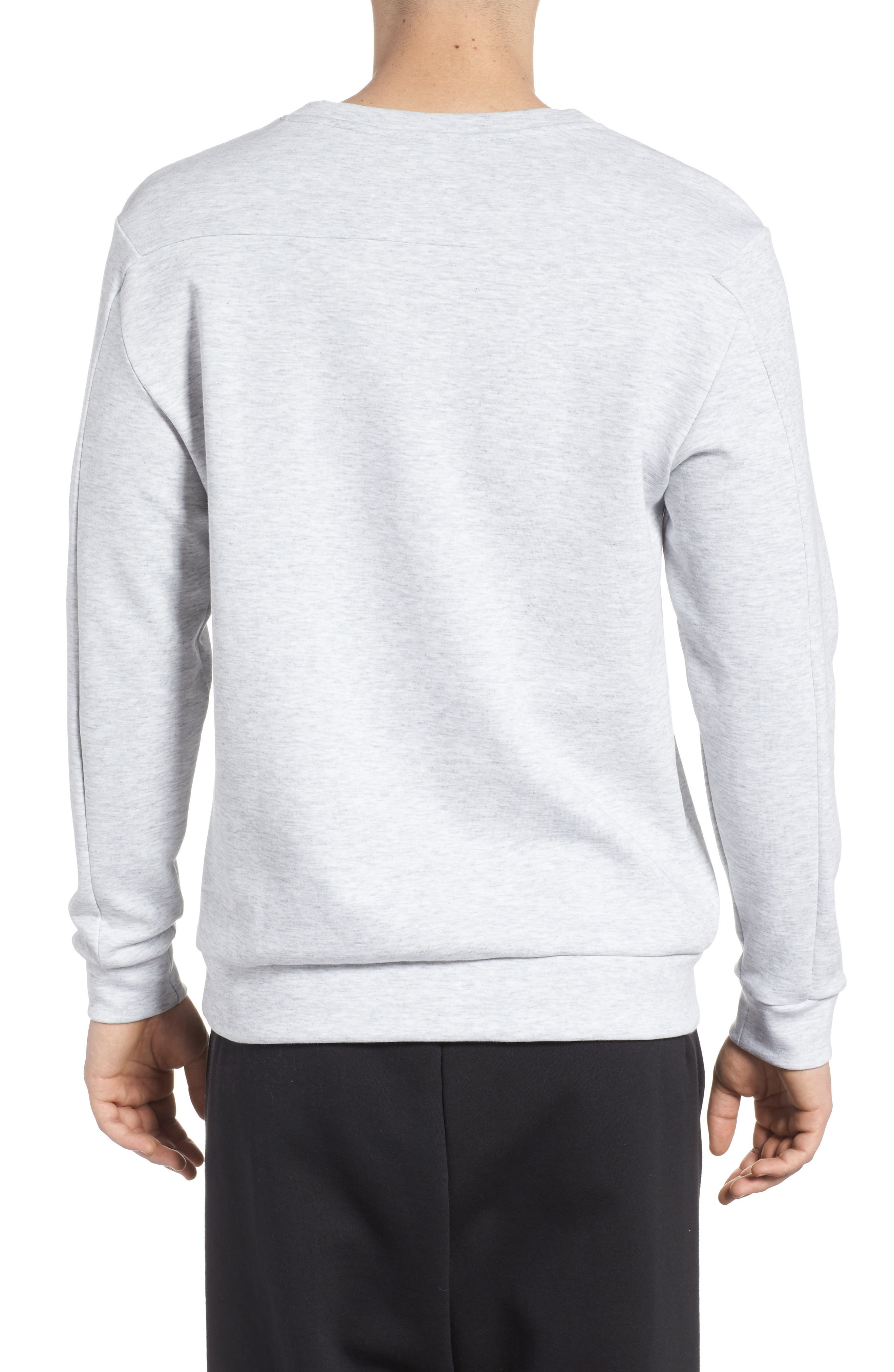 Double Sweatshirt,                             Alternate thumbnail 2, color,                             Light Grey Heather