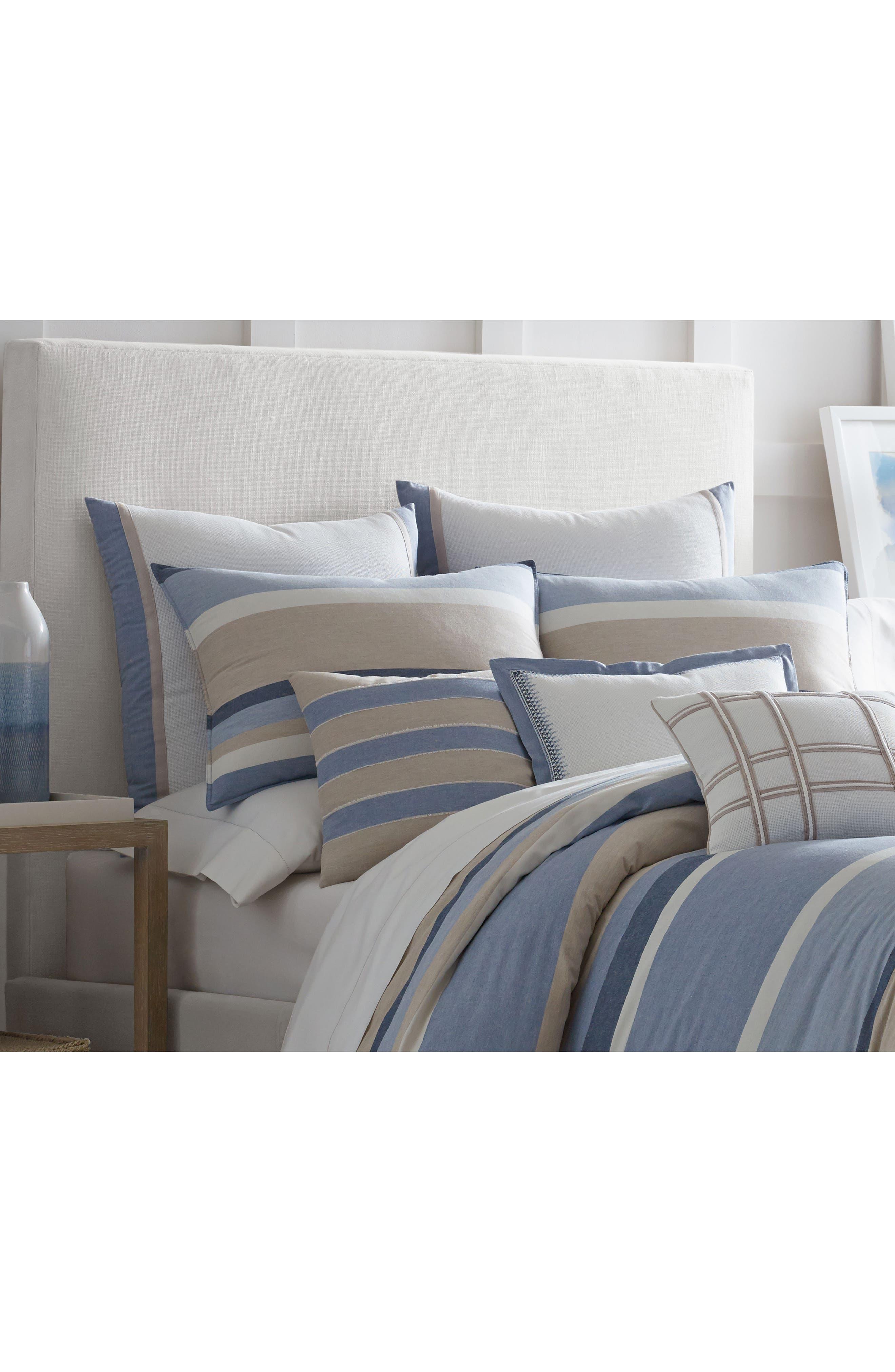 Abbot Rope Appliqué Accent Pillow,                             Alternate thumbnail 2, color,                             White