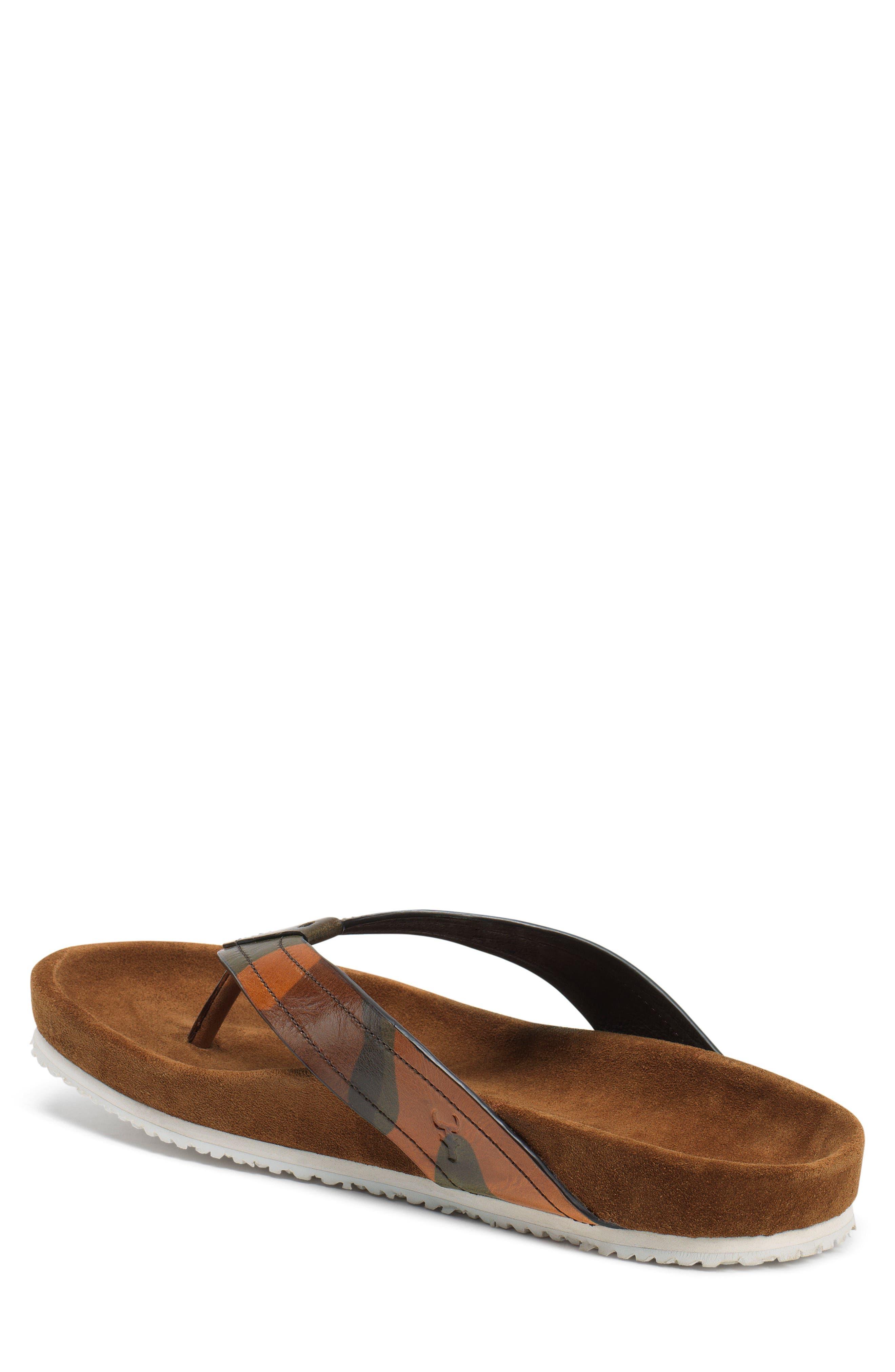 Fleming Flip Flop,                             Alternate thumbnail 2, color,                             Camoflage Leather