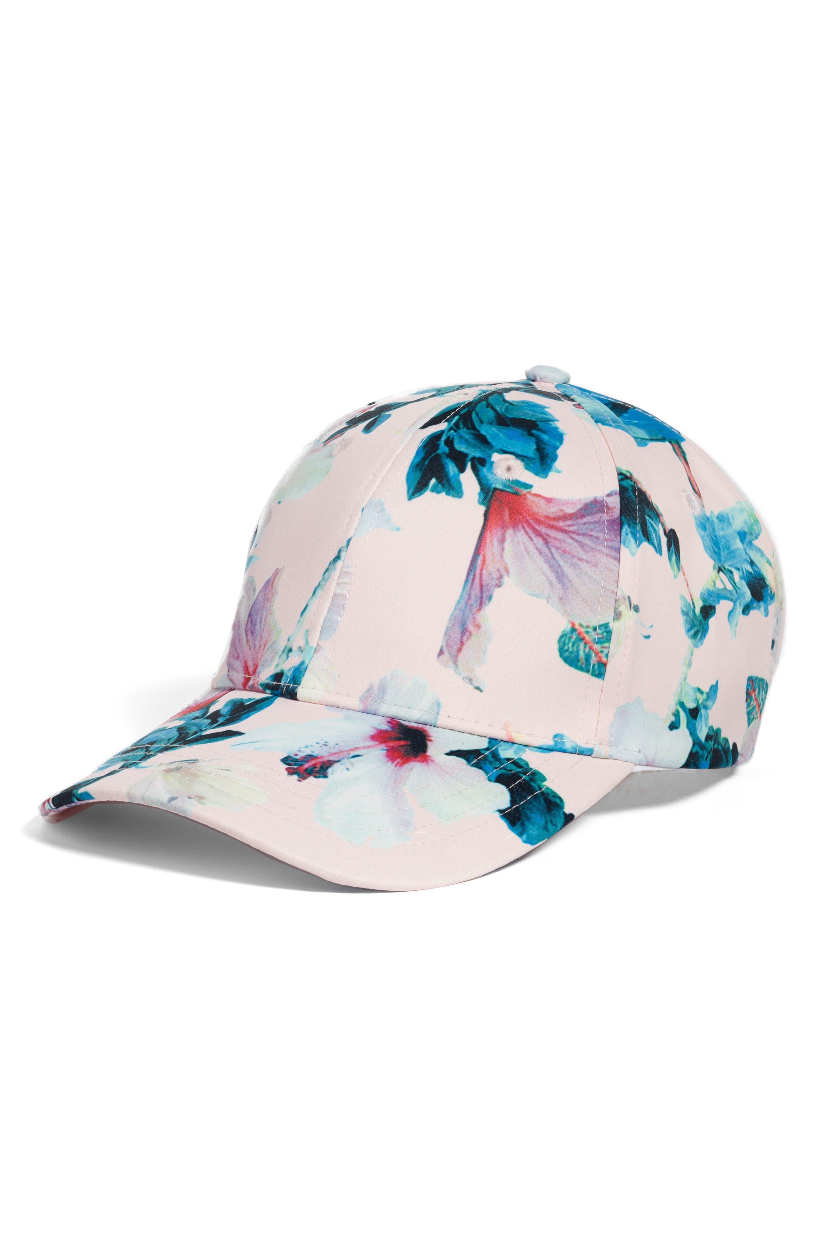 Collection XIIX Tropical Floral Satin Baseball Cap