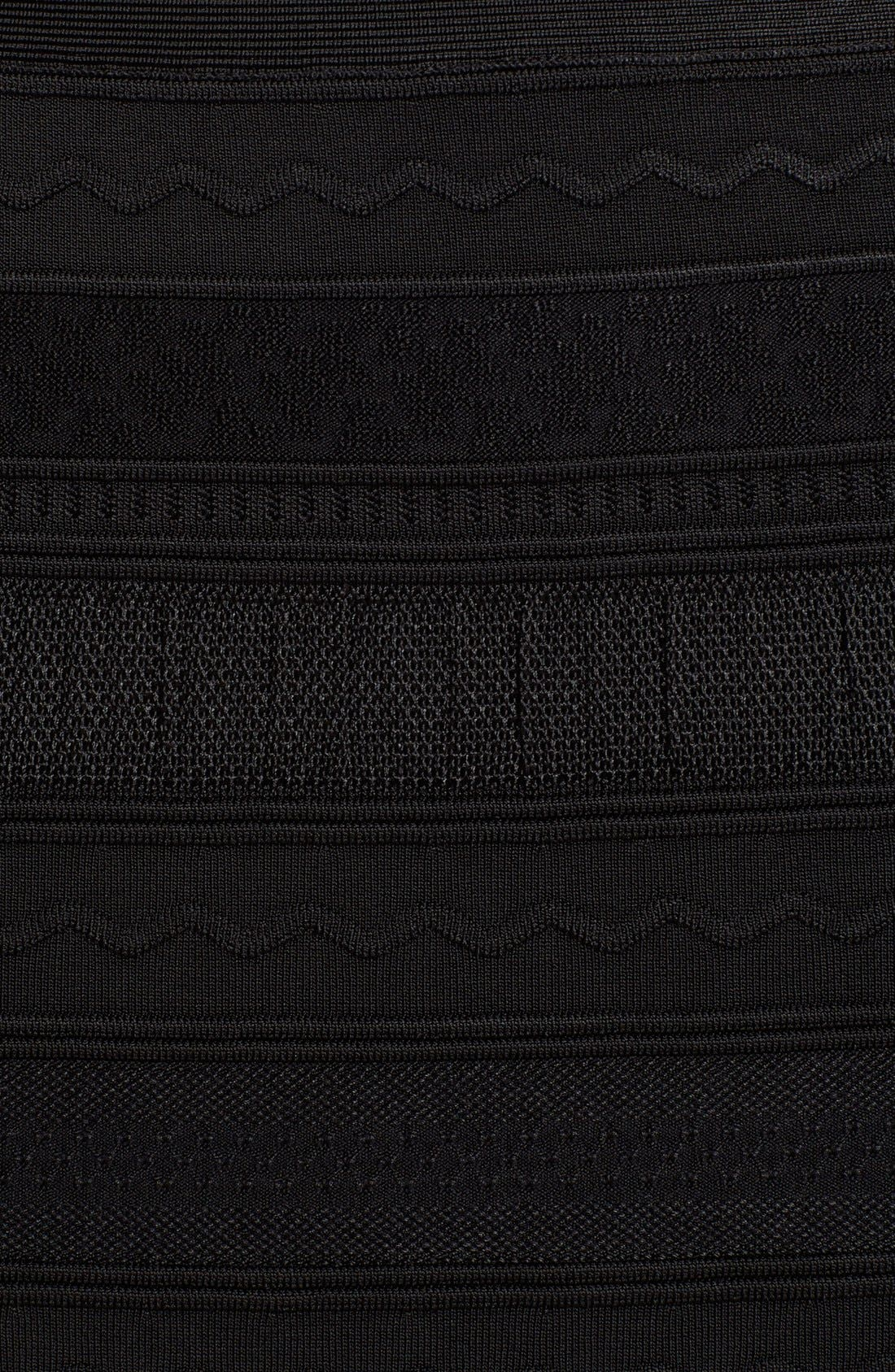 Alternate Image 3  - Herve Leger Mixed Stitch Bandage Gown