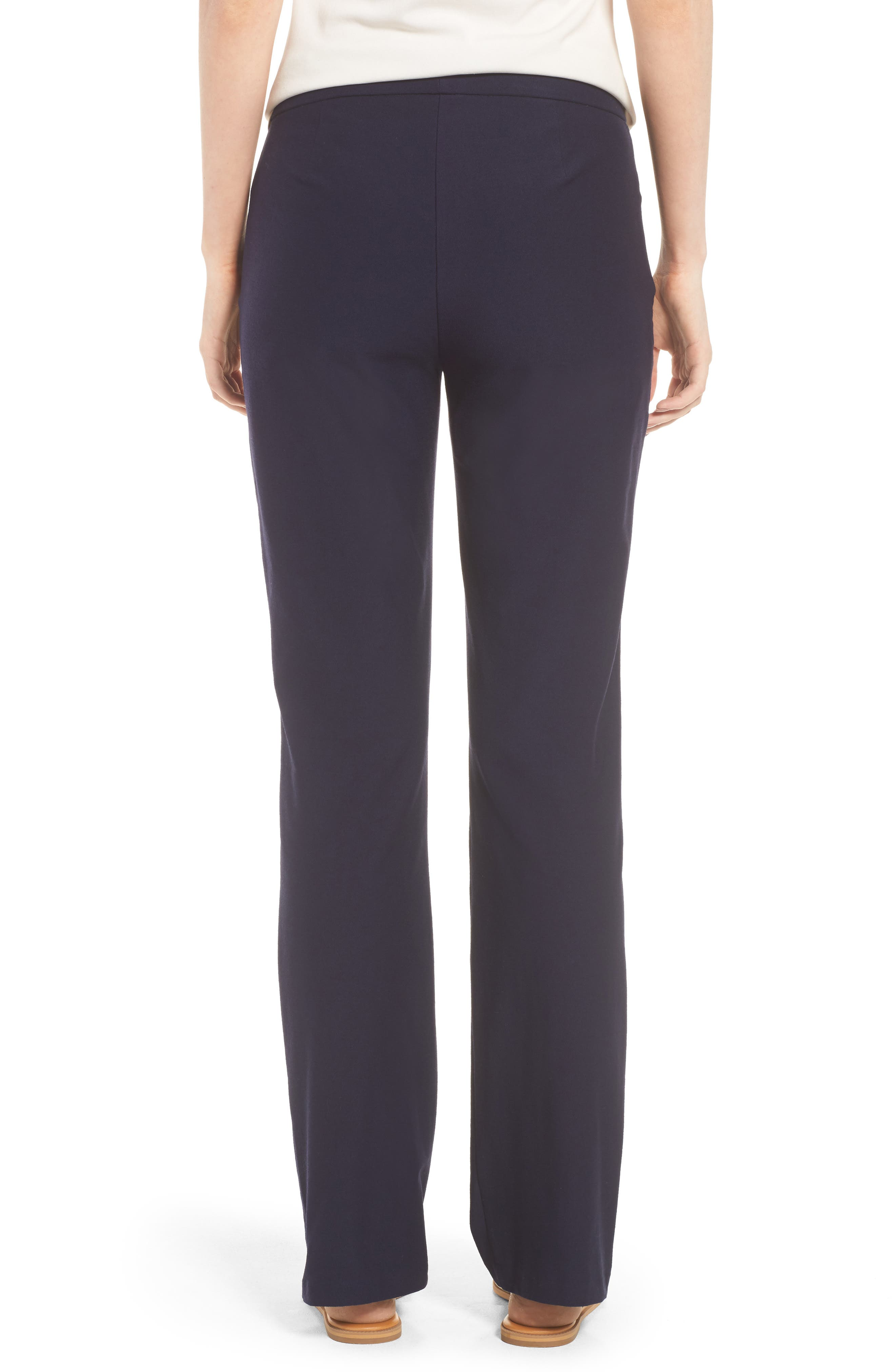 Slim Washable Stretch Crepe Bootcut Pants,                             Alternate thumbnail 2, color,                             Midnight