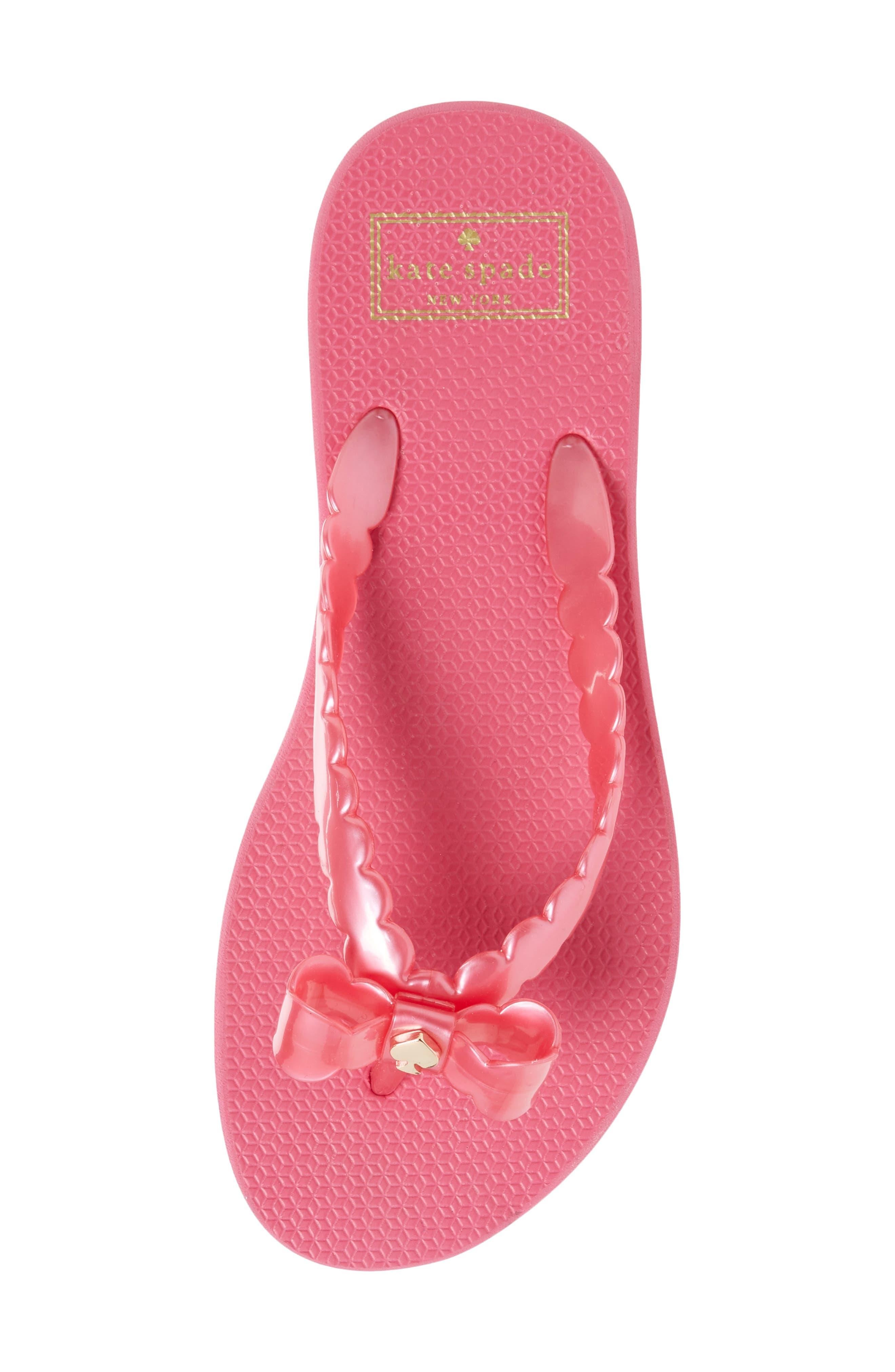 denise flip flop,                             Alternate thumbnail 5, color,                             Deep Pink