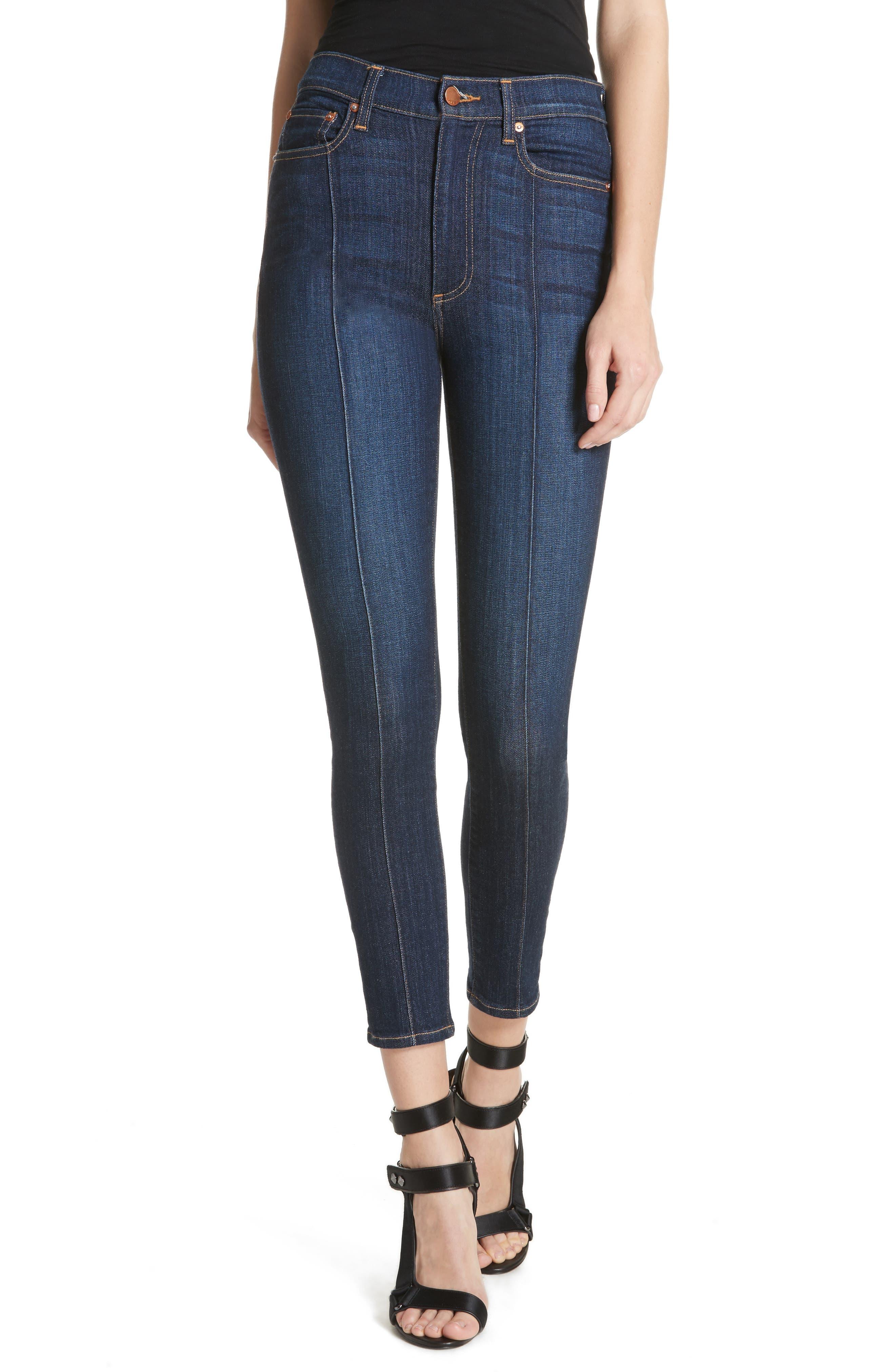 AO.LA Good High Waist Pintuck Skinny Jeans,                         Main,                         color, Dream On