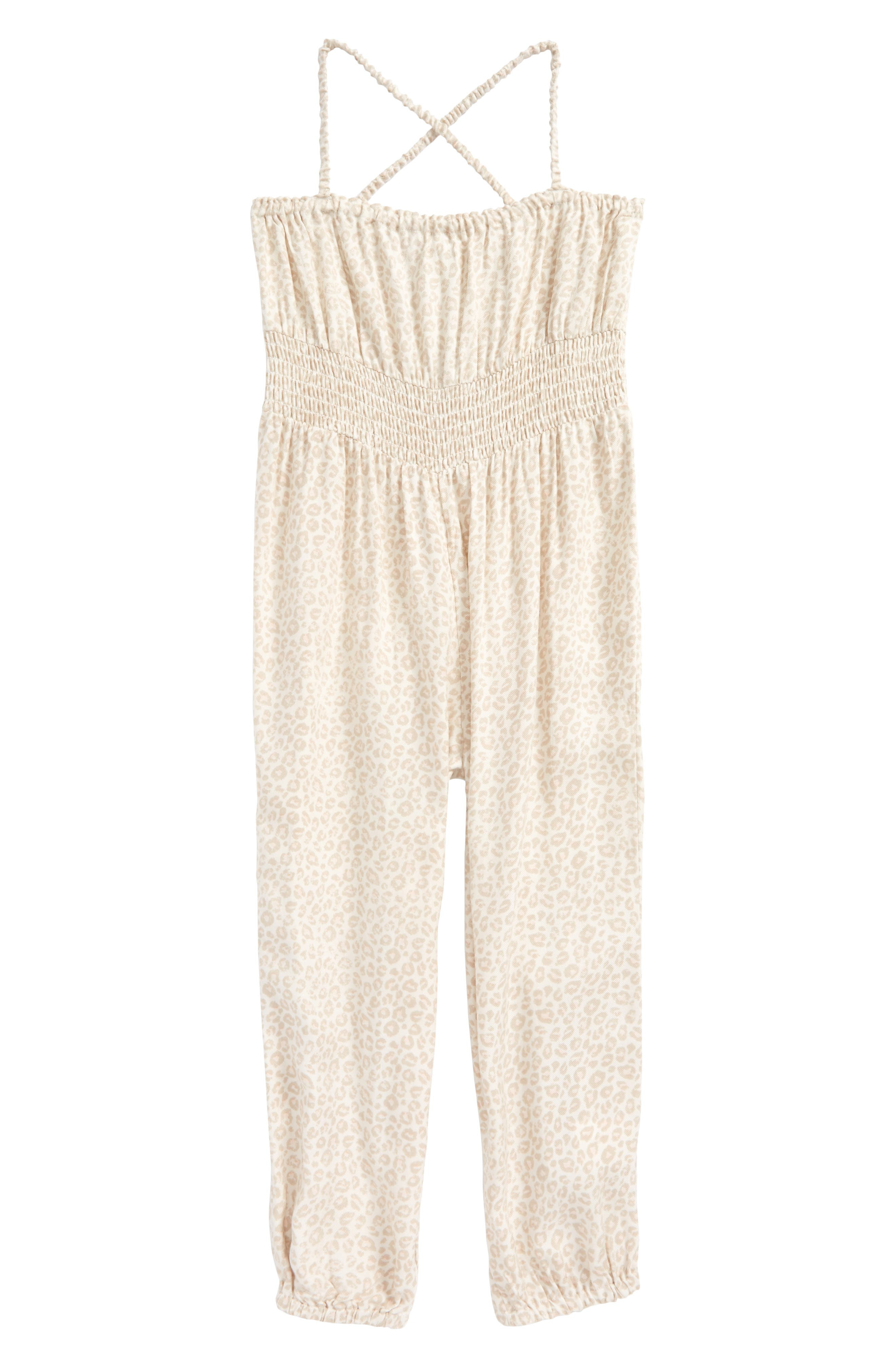 O'Neill Kimmy Leopard Print Jumpsuit (Toddler Girls & Little Girls)