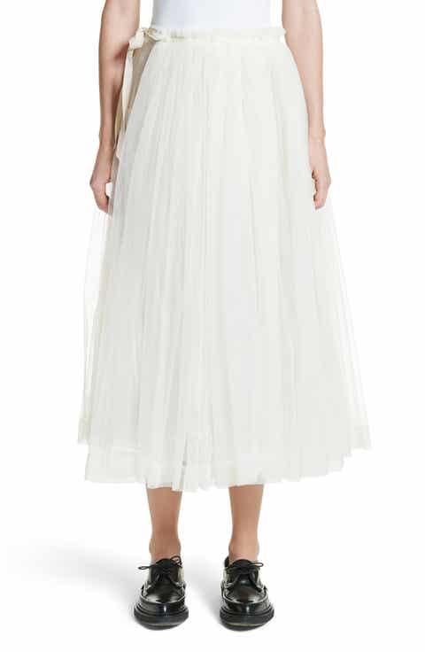 Molly Goddard August Tulle Wrap Apron Skirt