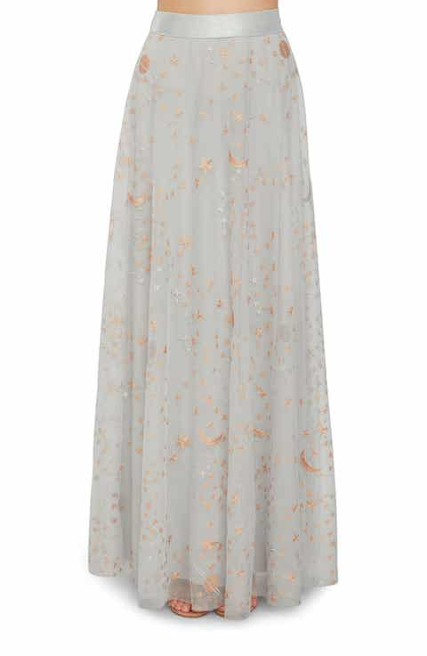 Willow & Clay Star Tulle Maxi Skirt