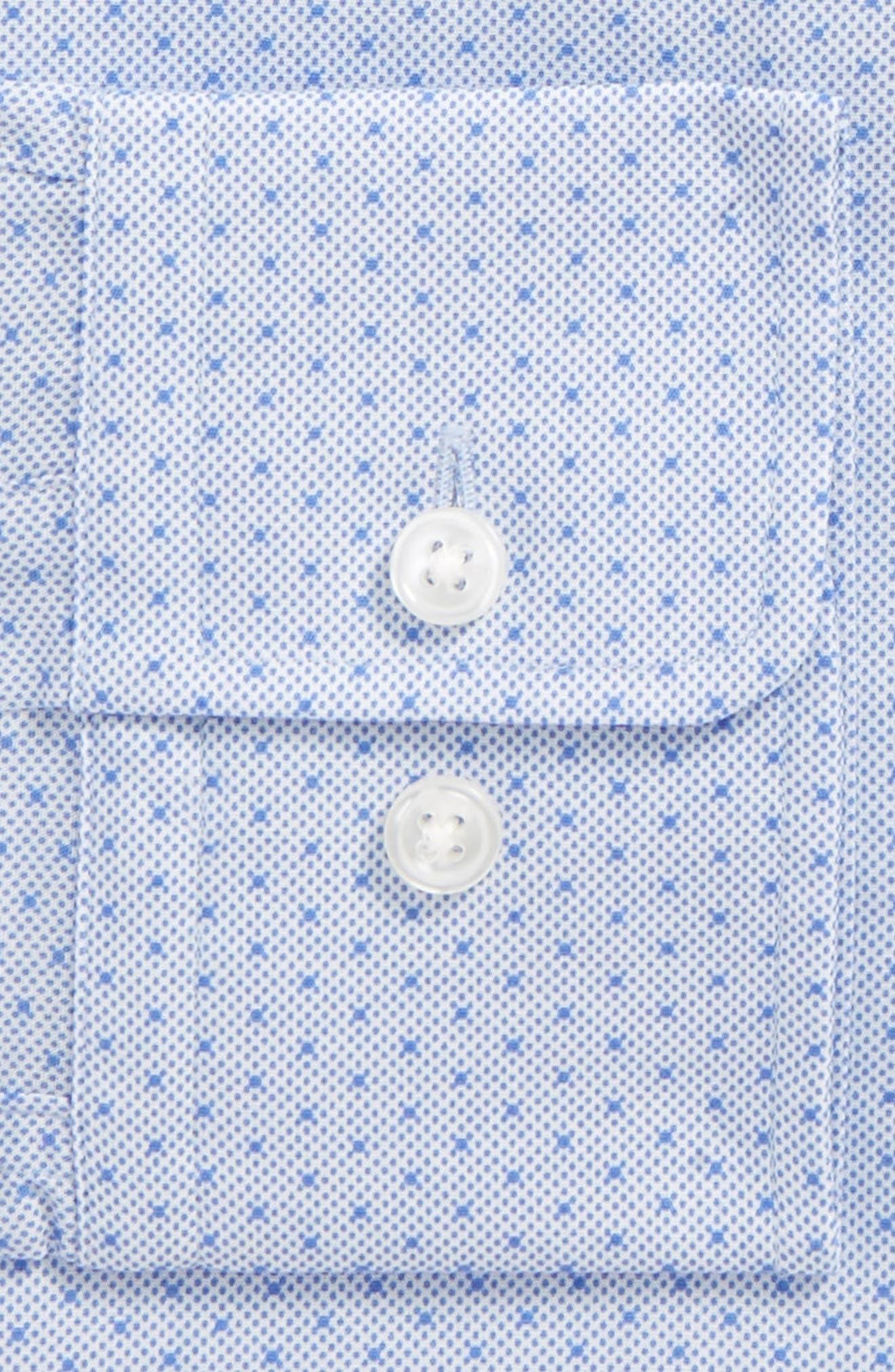 Mark Sharp Fit Dot Dress Shirt,                             Alternate thumbnail 2, color,                             Blue