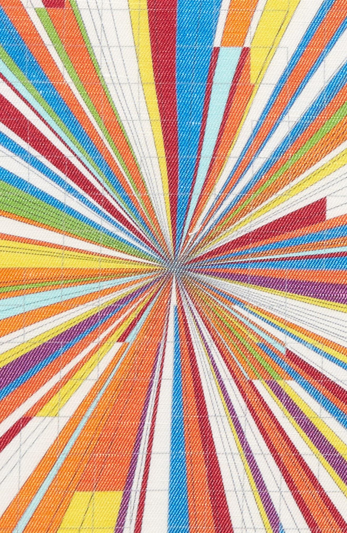 Burst Geometric Linen & Silk Pocket Square,                             Alternate thumbnail 3, color,                             Multi