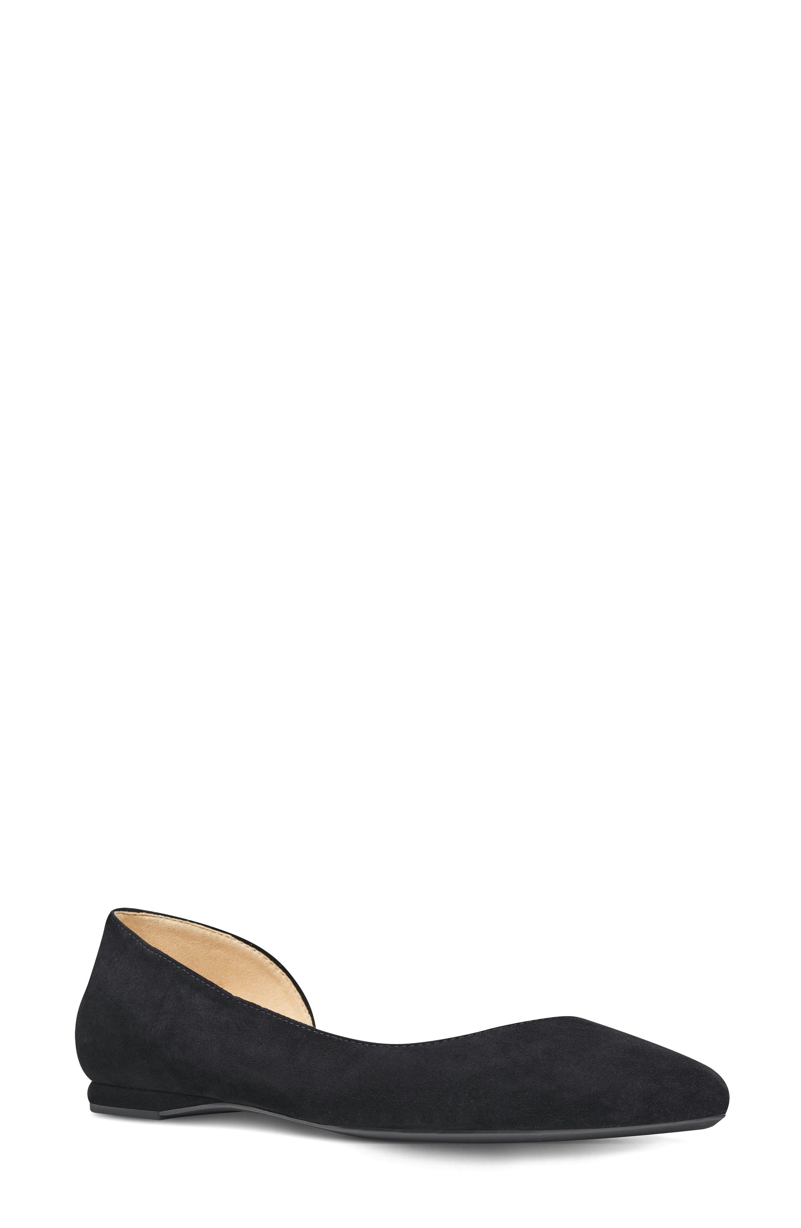 Spruce d'Orsay Flat,                         Main,                         color, Black Suede