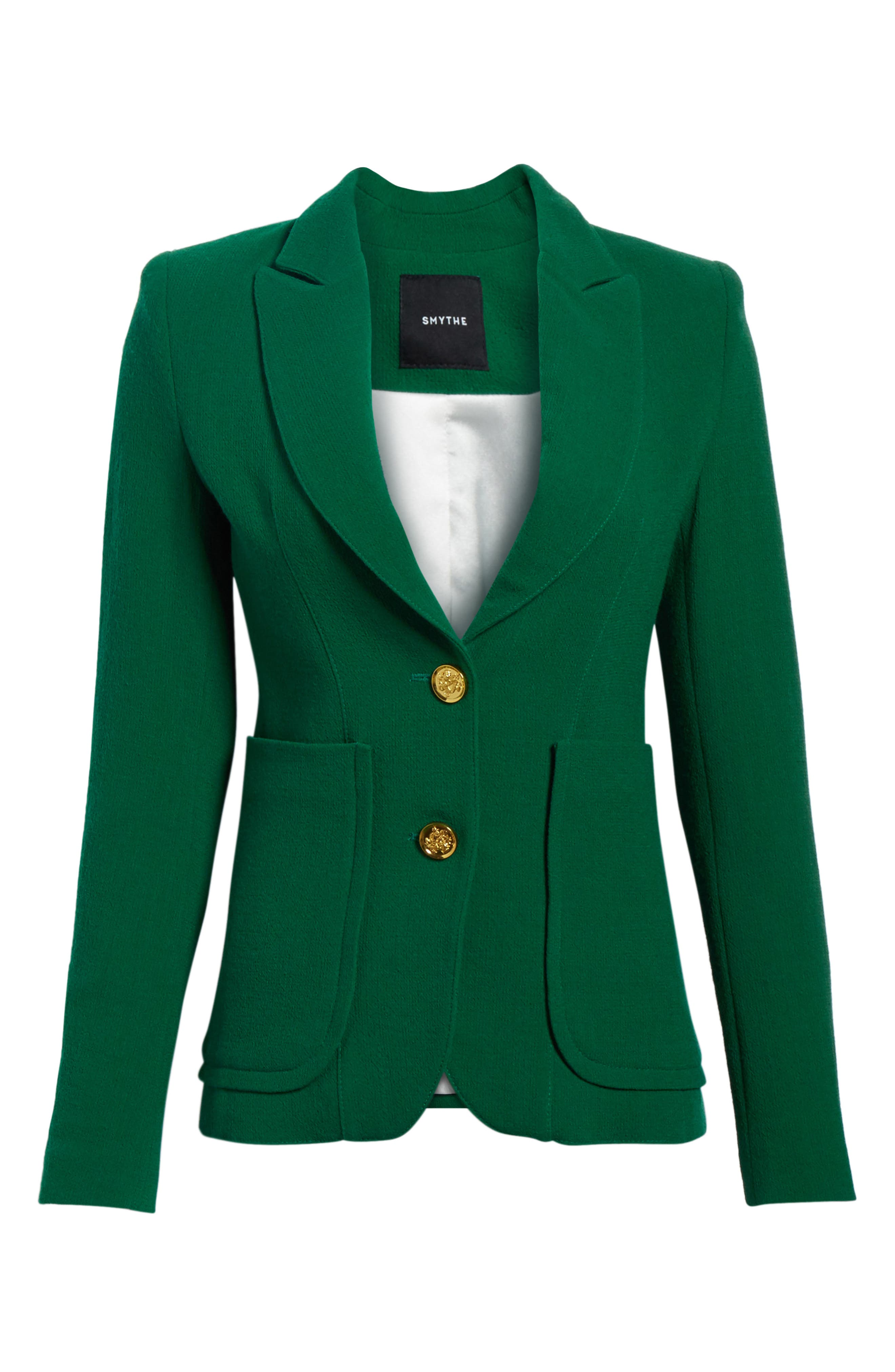 Wool Blazer,                             Alternate thumbnail 6, color,                             Kelly Green