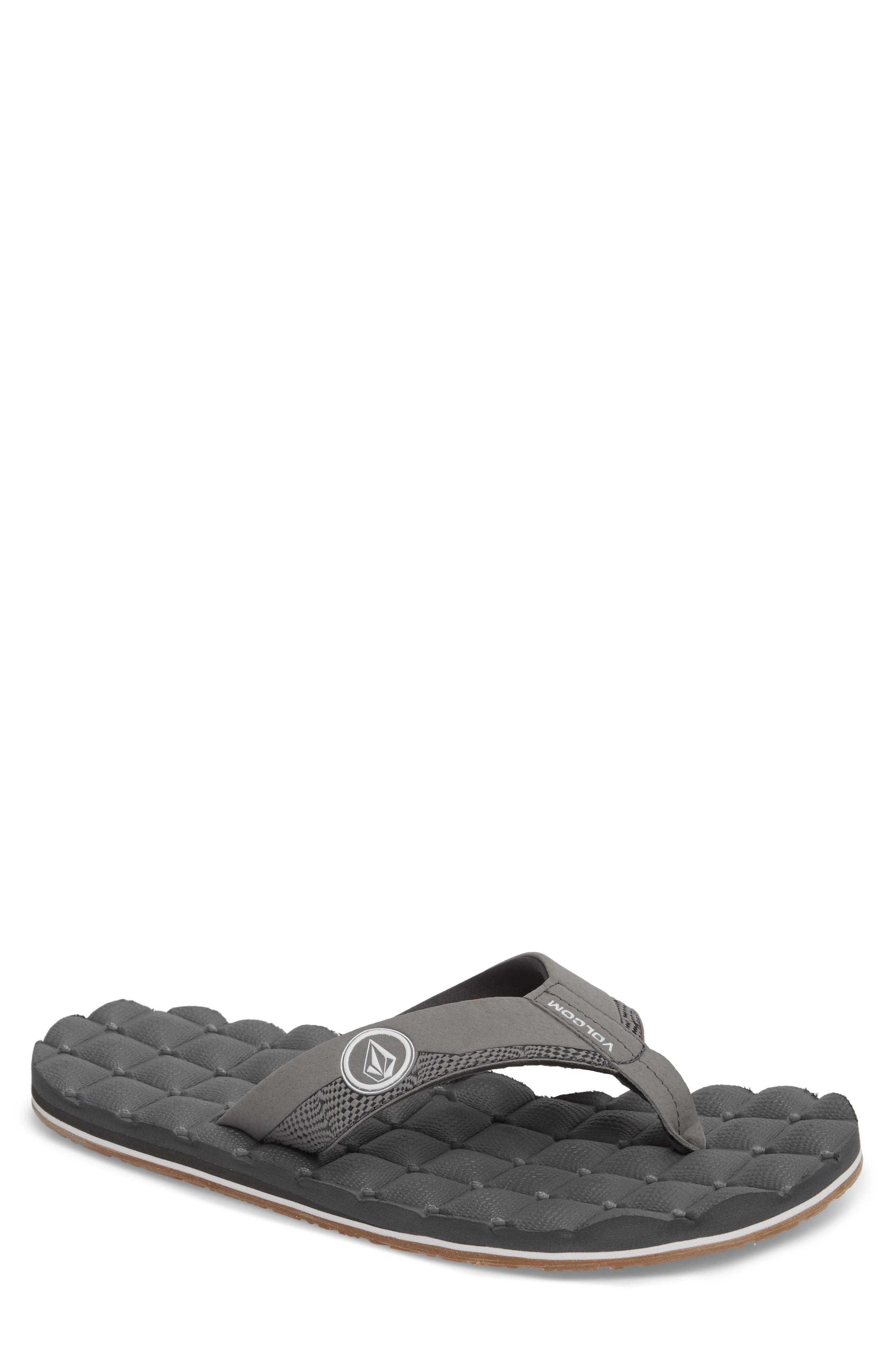 'Recliner' Flip Flop,                             Main thumbnail 1, color,                             Light Grey