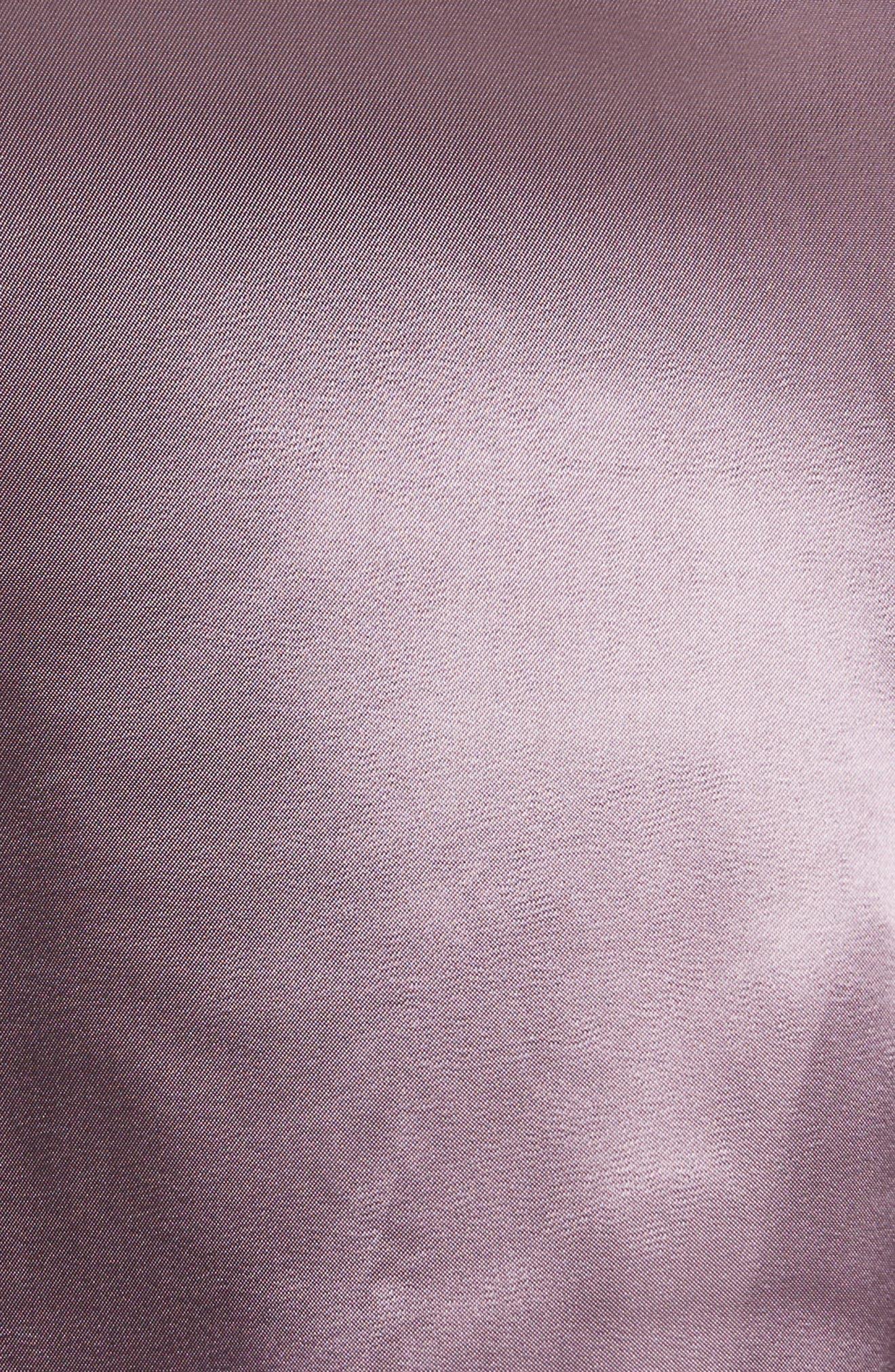 Cassini Satin Slip Skirt,                             Alternate thumbnail 5, color,                             Violet