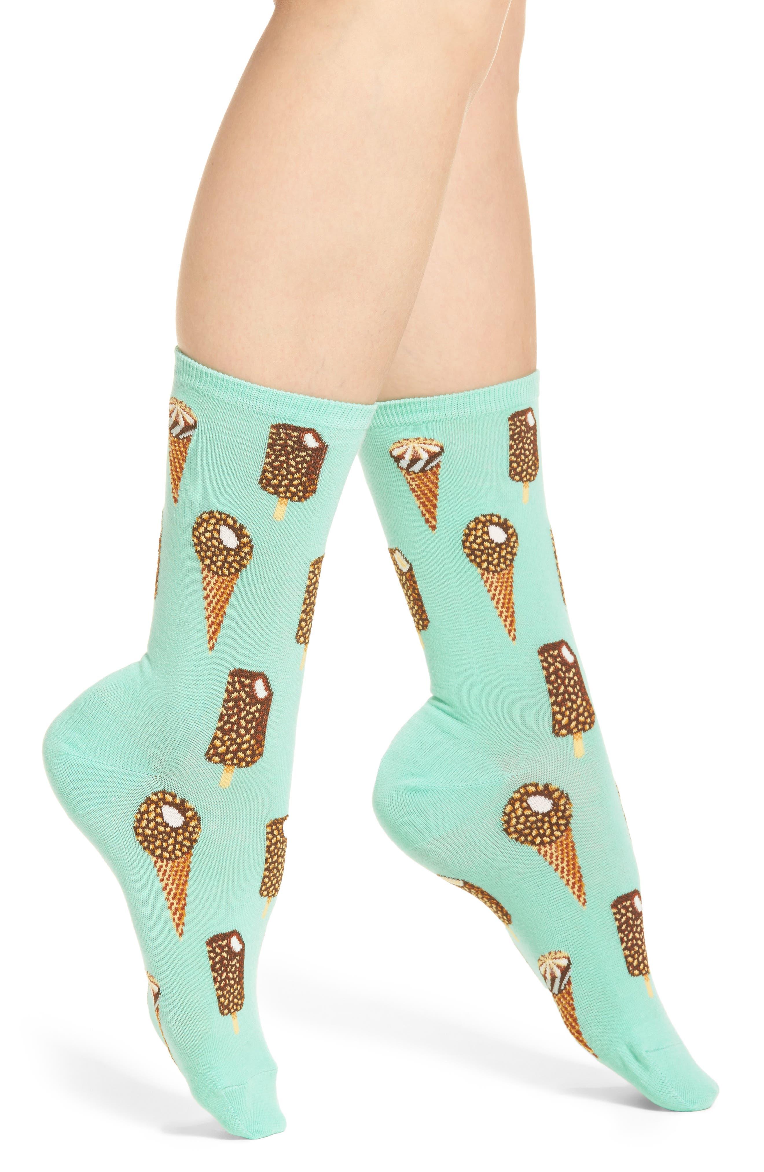 Ice Cream Crew Socks,                             Main thumbnail 1, color,                             Jade