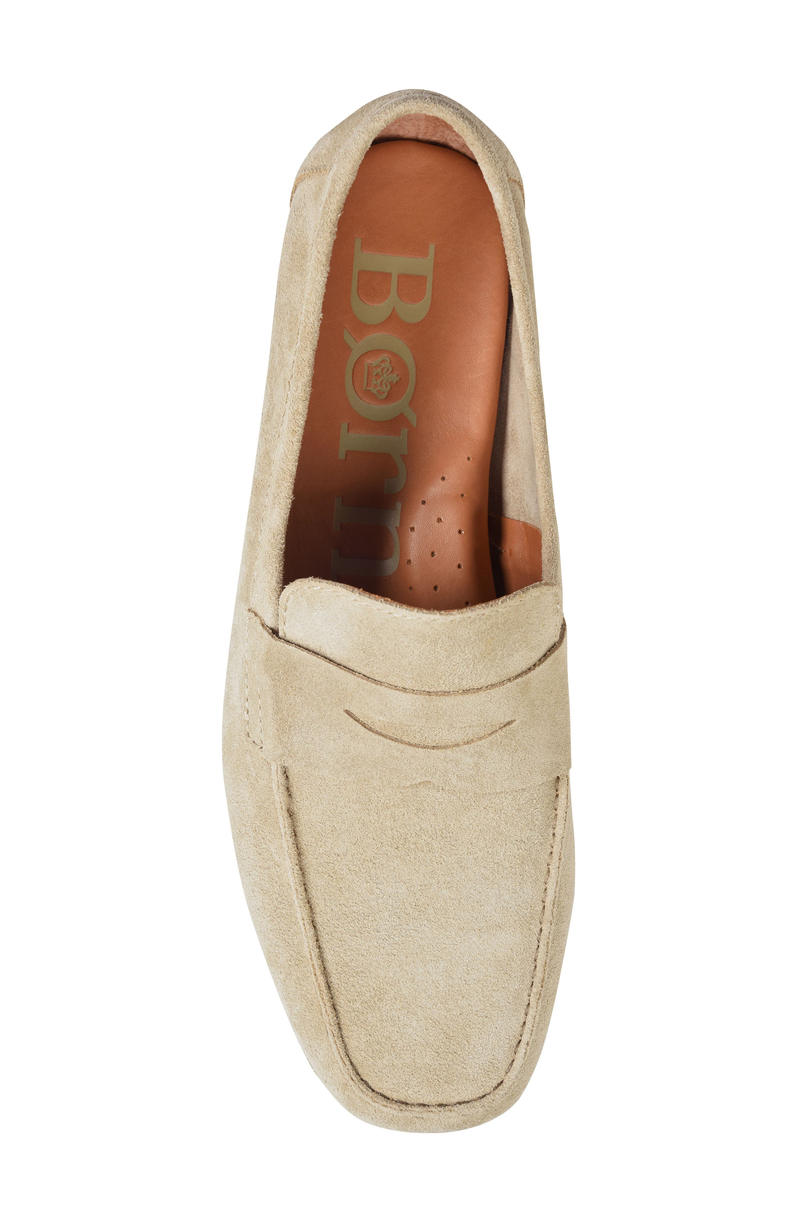 'Dave' Penny Loafer,                             Alternate thumbnail 5, color,                             Natural Suede