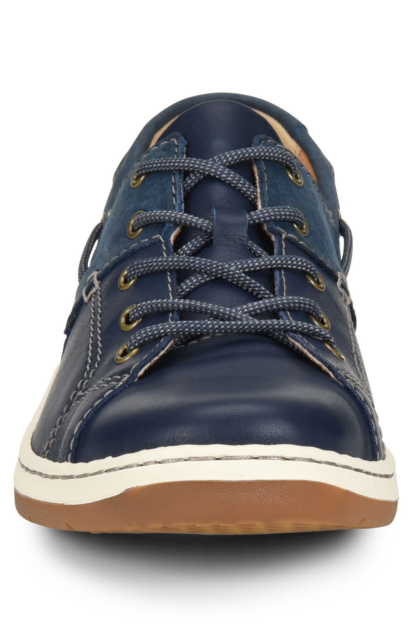 Marius Boat Shoe Sneaker,                             Alternate thumbnail 4, color,                             Navy Leather