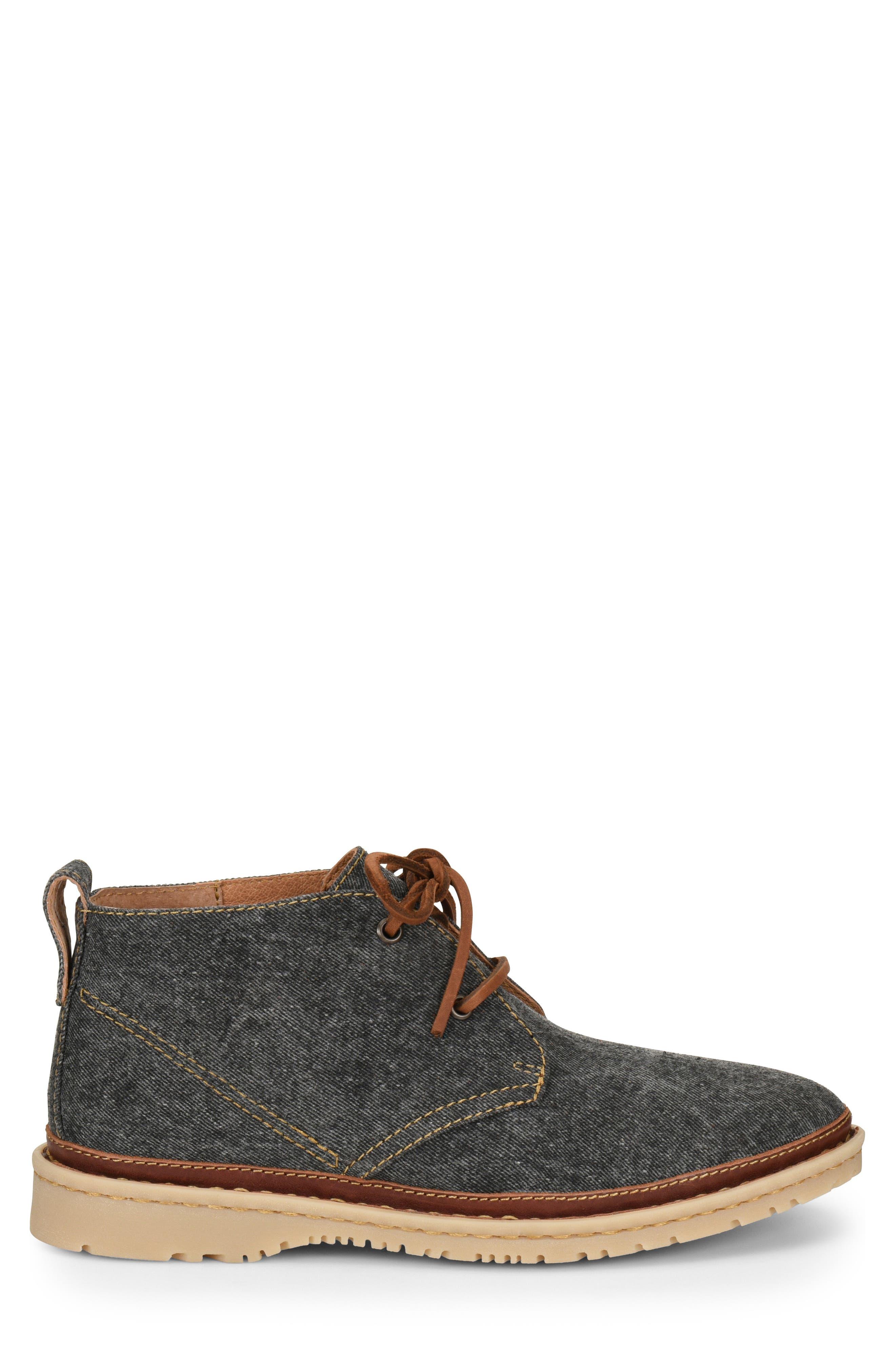 Elk II Chukka Boot,                             Alternate thumbnail 3, color,                             Dark Grey Fabric