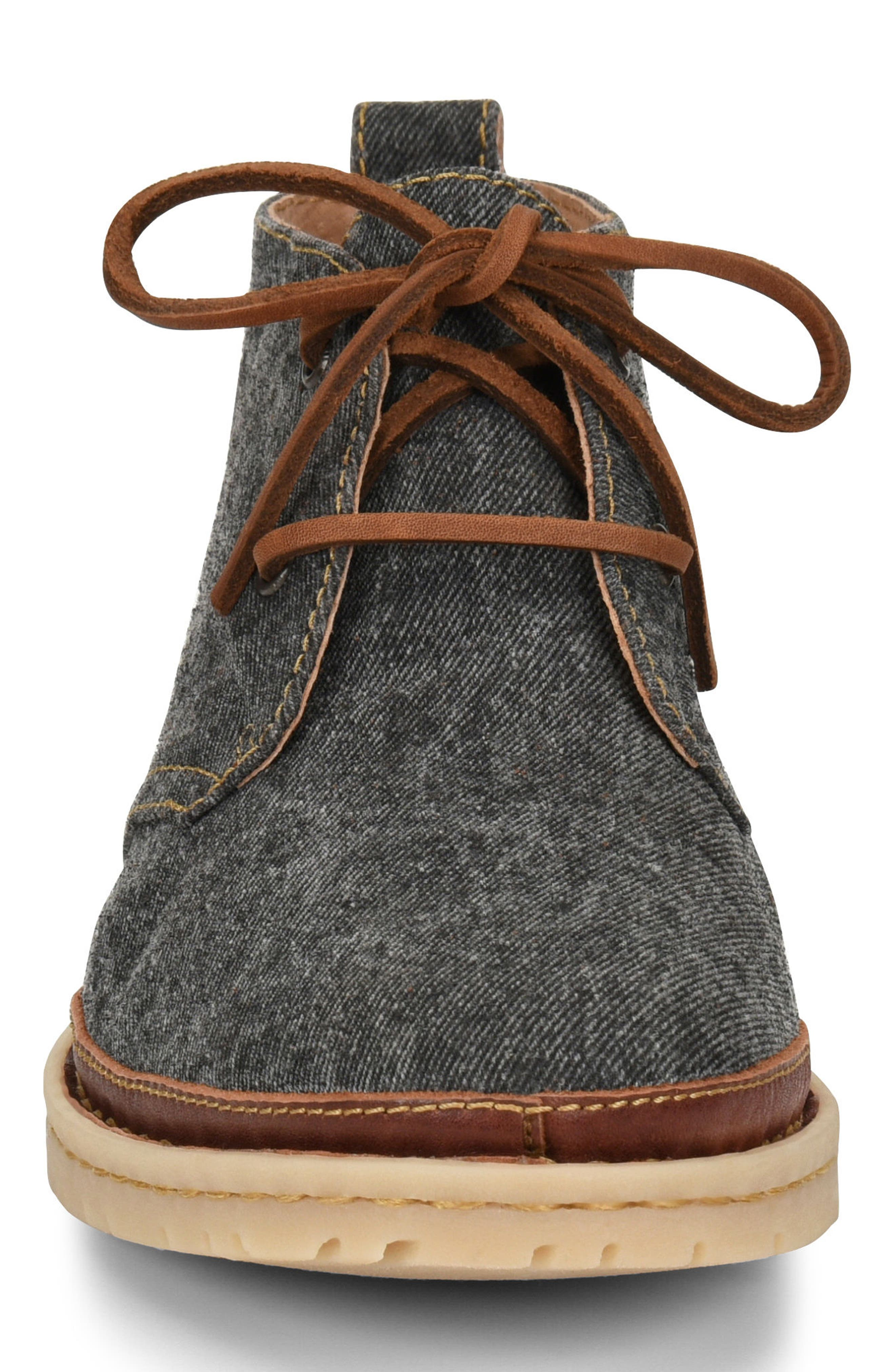 Elk II Chukka Boot,                             Alternate thumbnail 4, color,                             Dark Grey Fabric